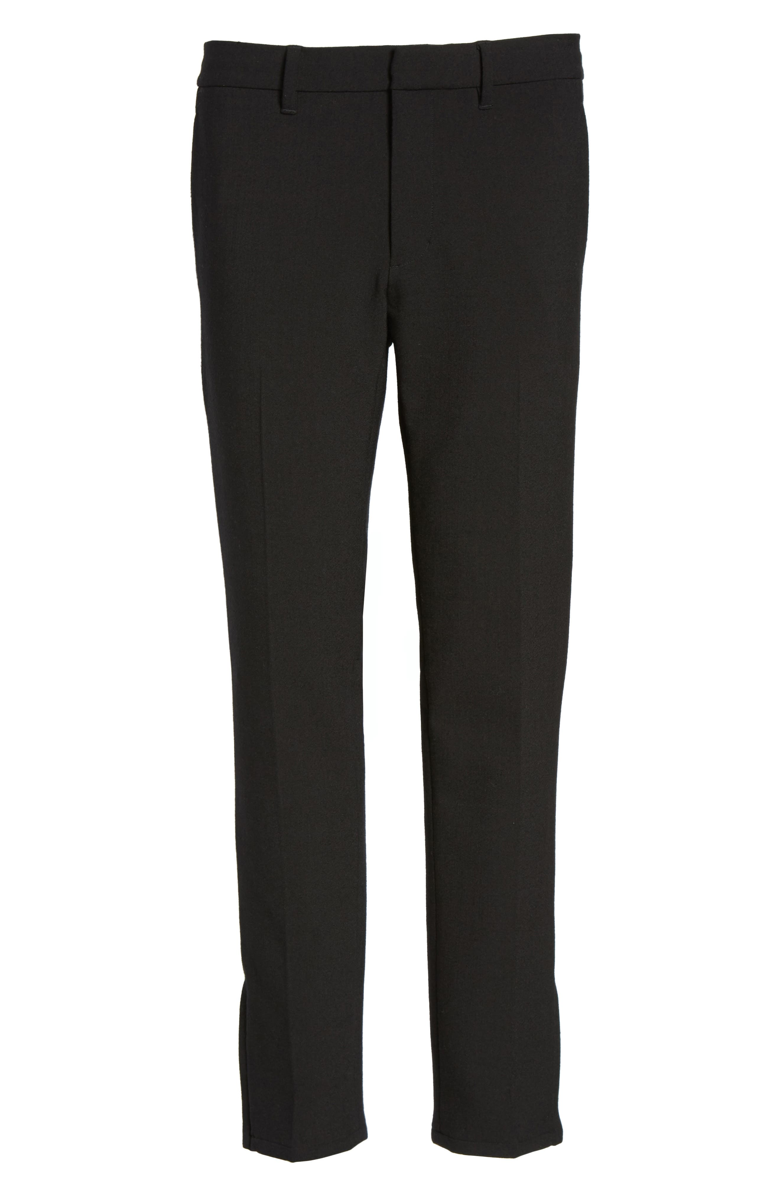 Zip Hem Slim Fit Trousers,                             Alternate thumbnail 6, color,
