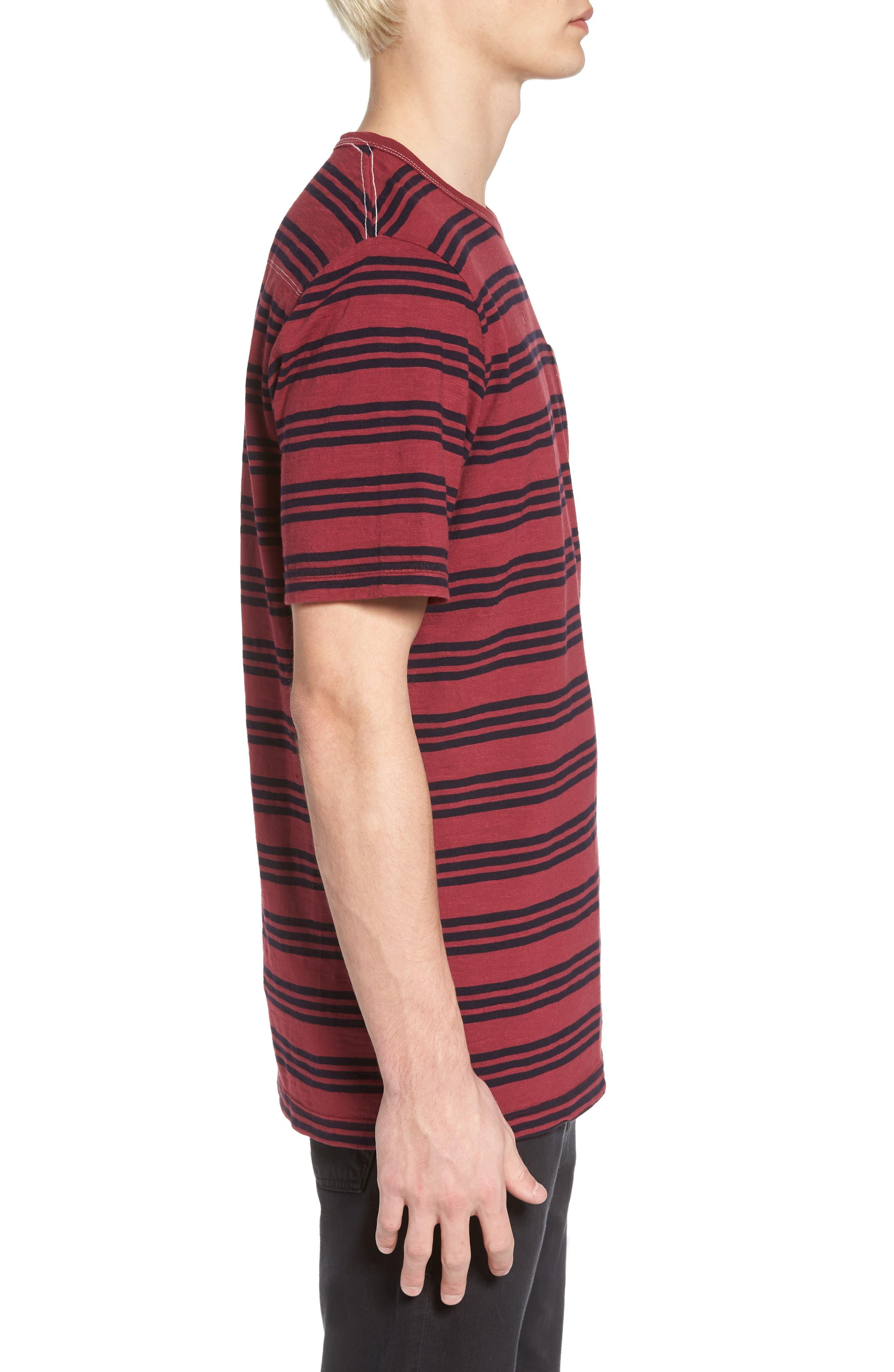 Triple Stripe Garment Dyed T-Shirt,                             Alternate thumbnail 3, color,