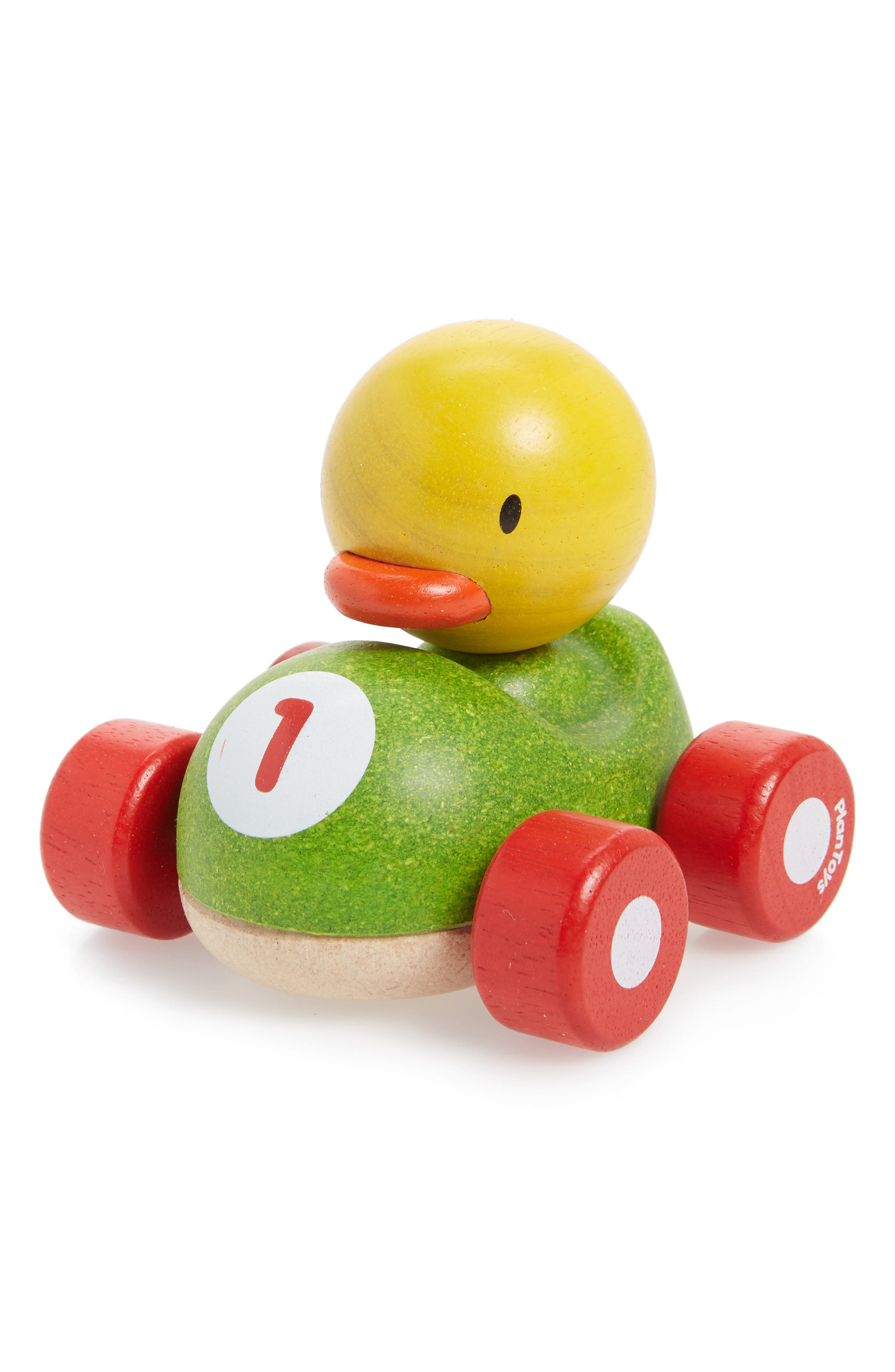 Plan Toys<sup>®</sup> Duck Racer Rolling Toy,                             Main thumbnail 1, color,                             300