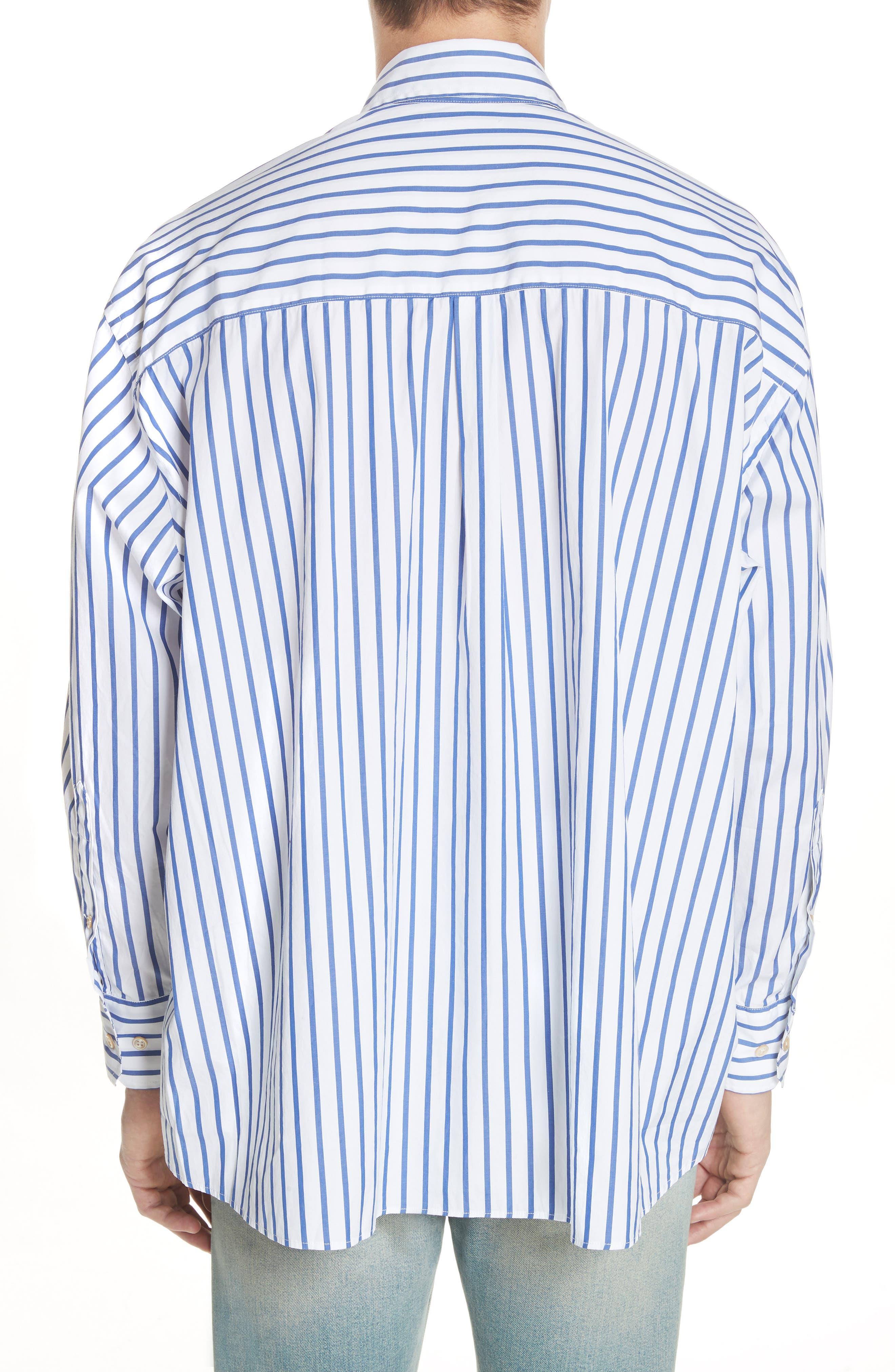Oversize Stripe Woven Shirt,                             Alternate thumbnail 2, color,                             400