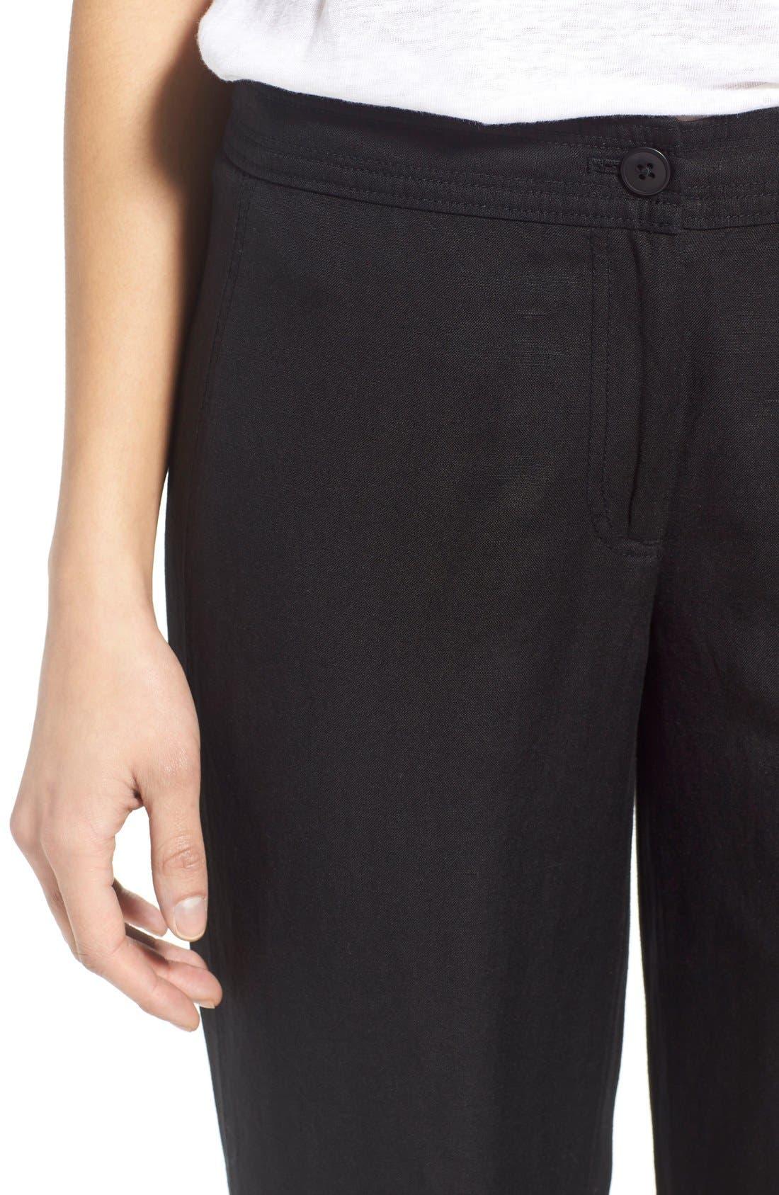 'Easy' Linen Blend Wide Leg Pants,                             Alternate thumbnail 5, color,                             004