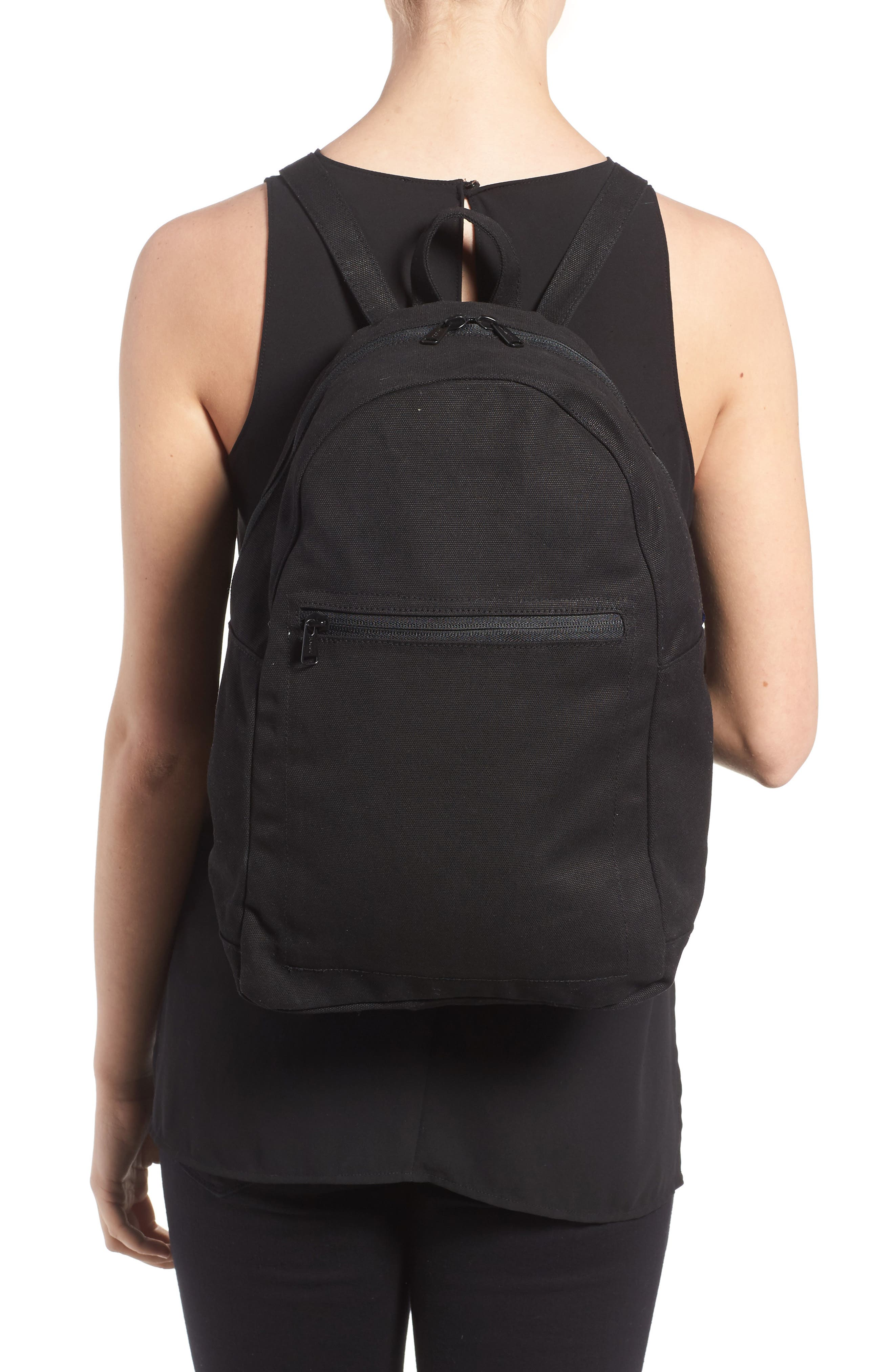 Canvas Backpack,                             Alternate thumbnail 2, color,                             001