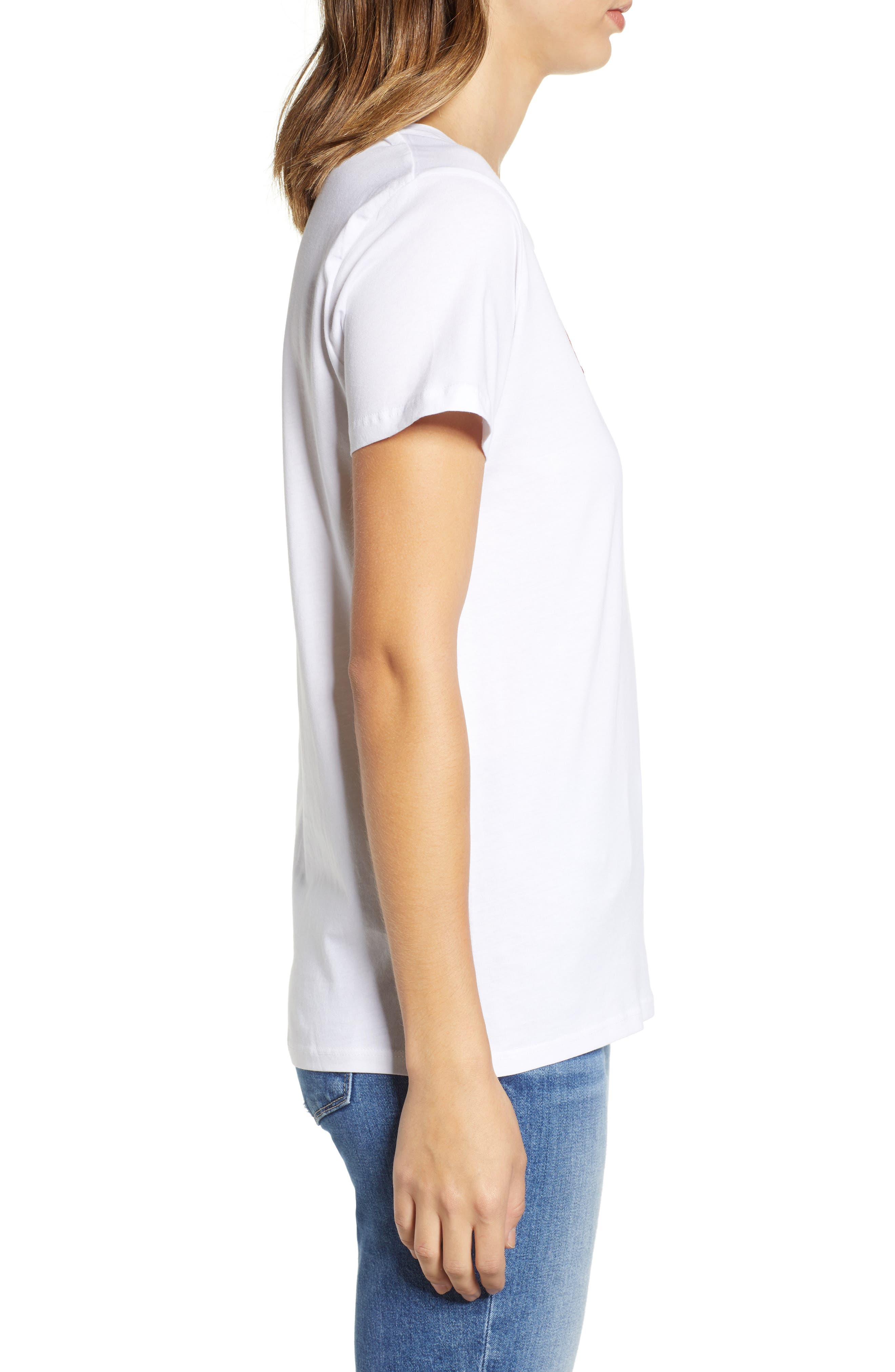 Amour Graphic Tee,                             Alternate thumbnail 3, color,                             WHITE