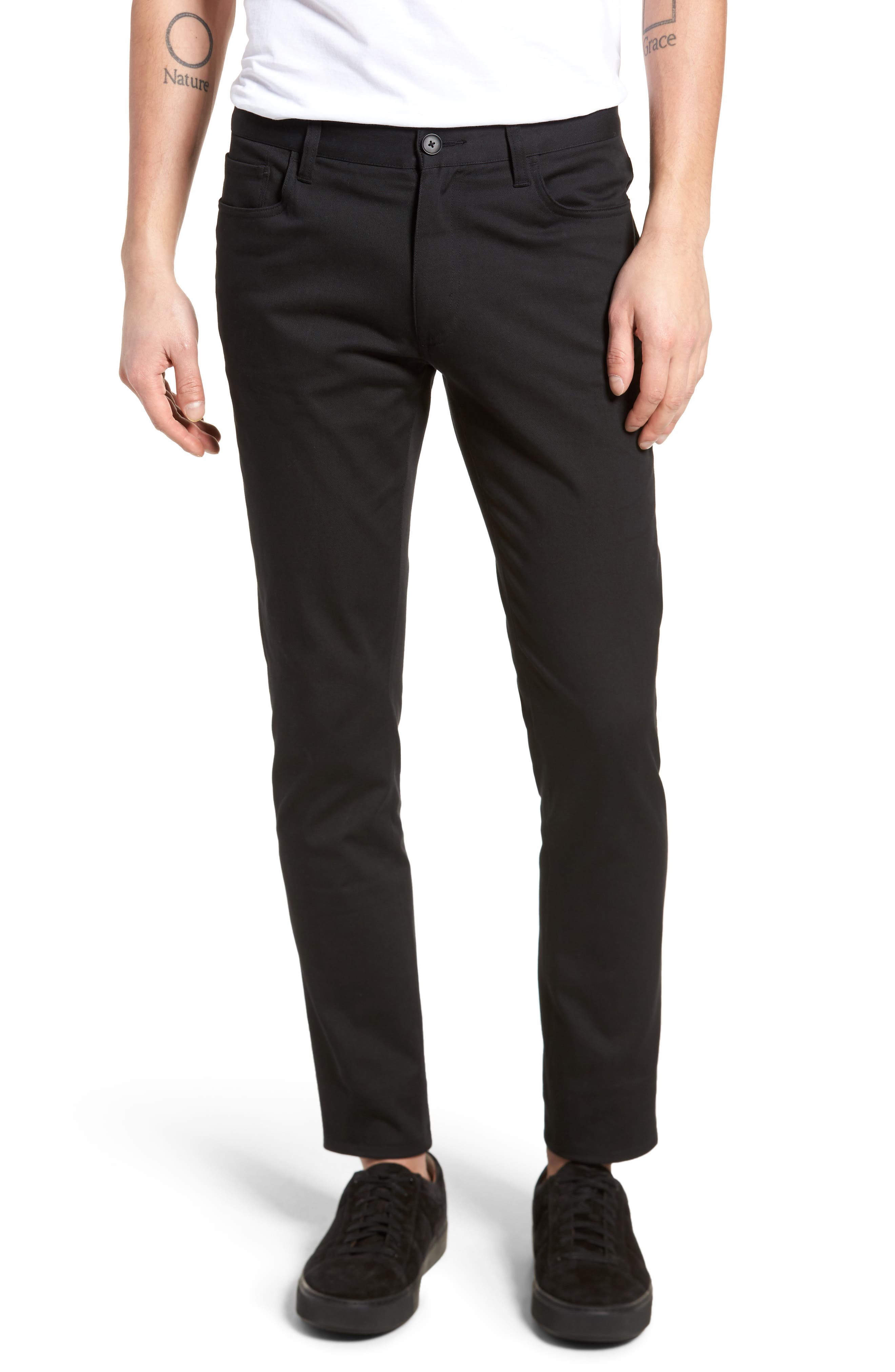 Skinny Slim Fit Pants,                             Main thumbnail 1, color,                             001