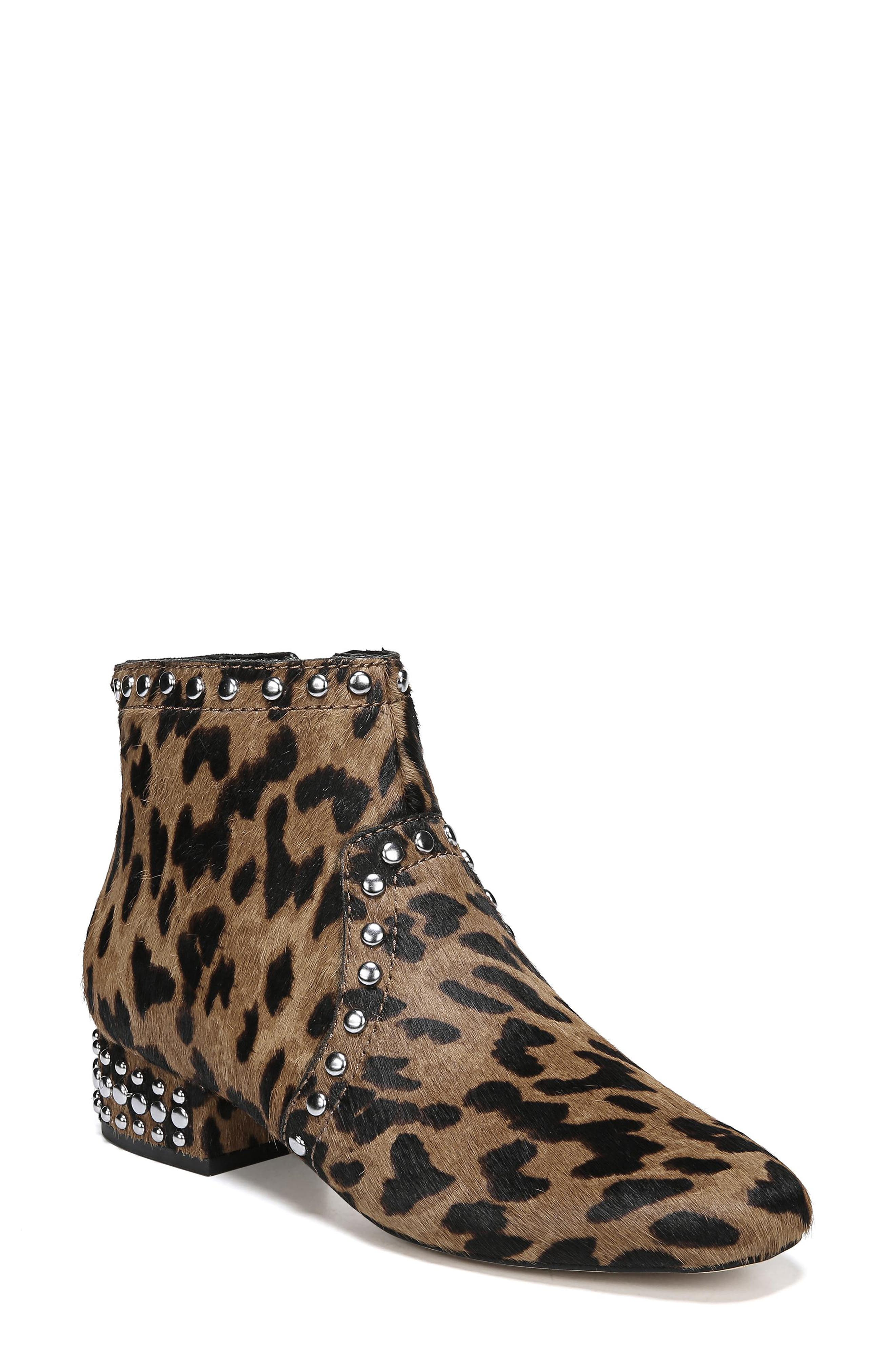 Sam Edelman Lorin Genuine Calf Hair Studded Bootie