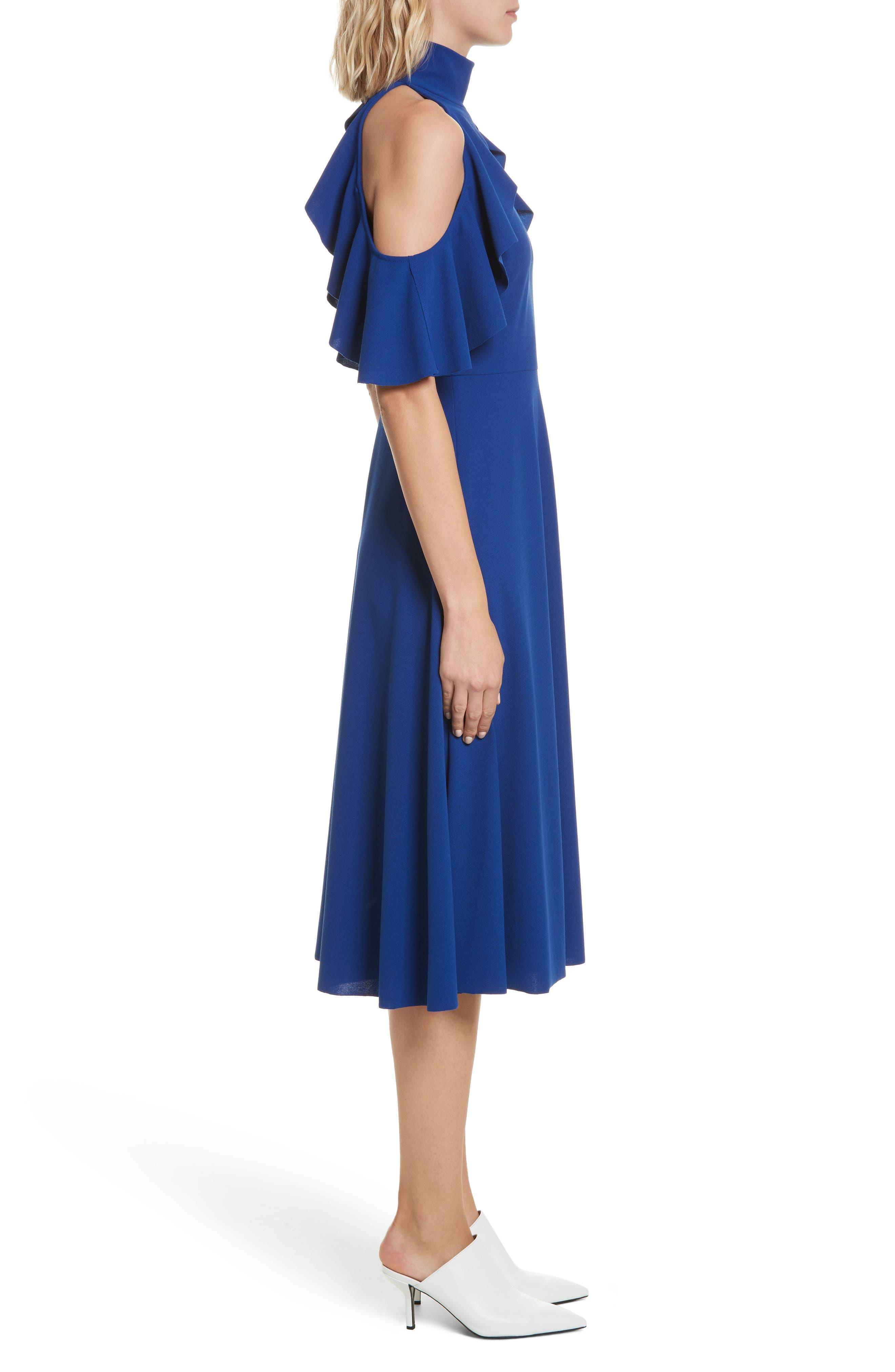 Midi Dress,                             Alternate thumbnail 3, color,                             415