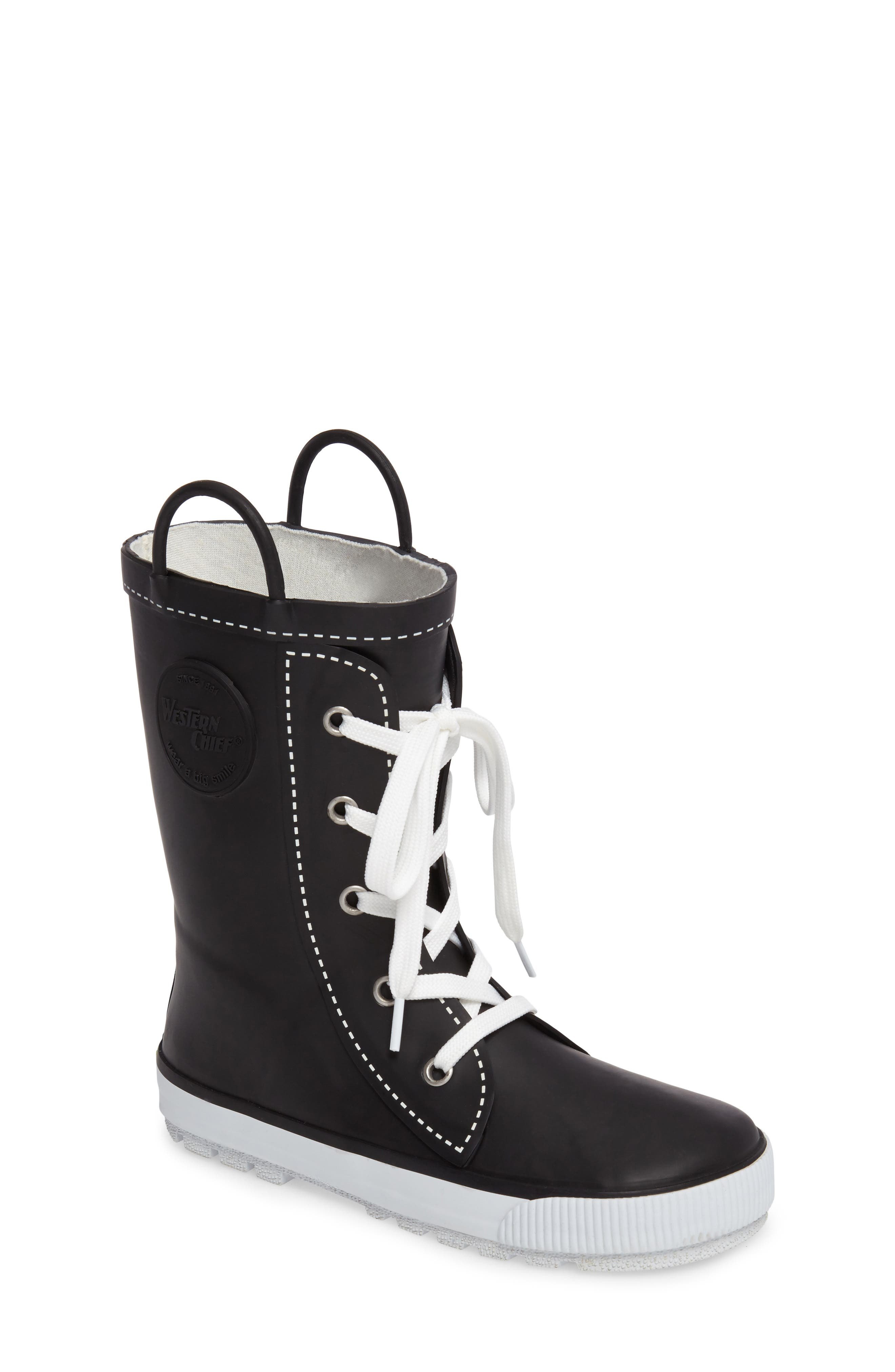 Waterproof Sneaker Rain Boot,                             Main thumbnail 1, color,                             001