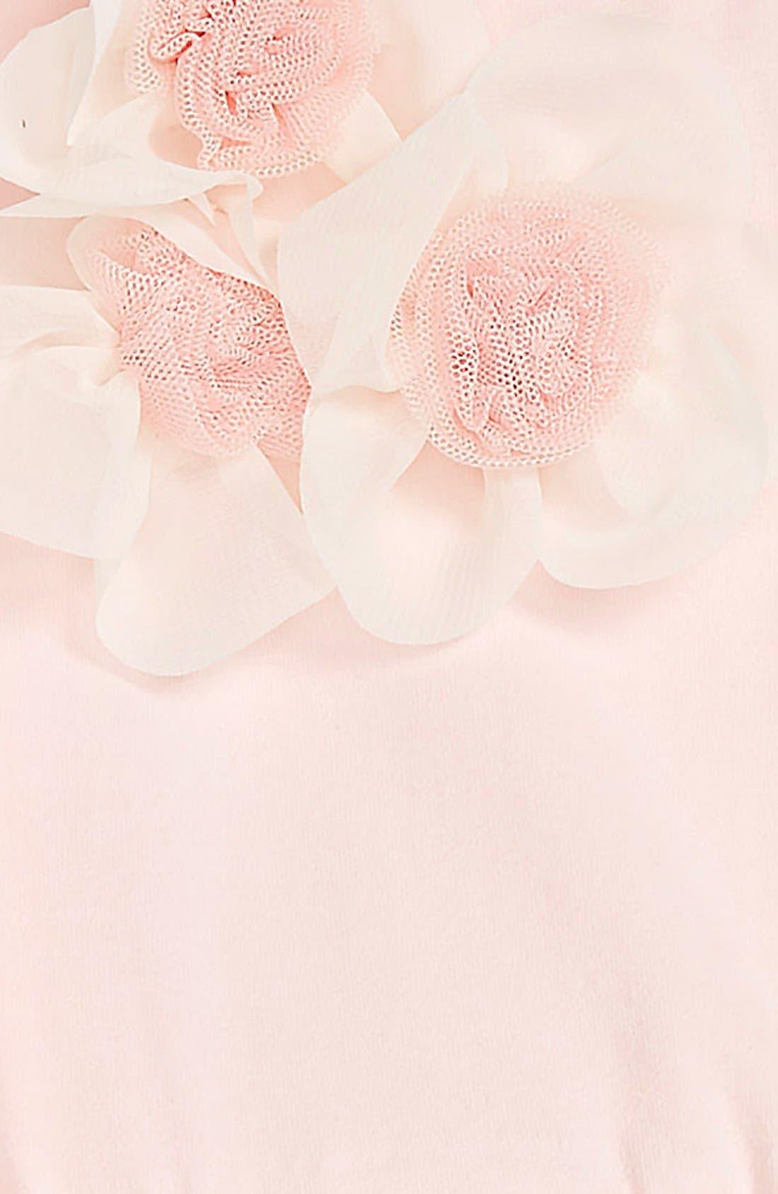 Sleeveless Floral Tutu Dress,                             Alternate thumbnail 2, color,                             PEACH