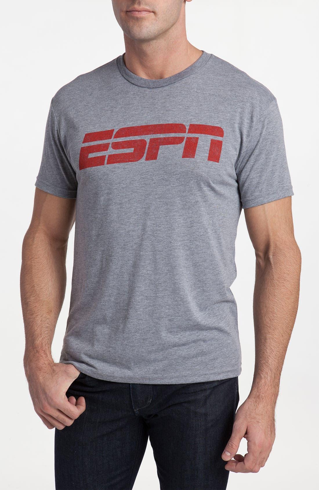 Topless 'ESPN<sup>®</sup> Logo' Crewneck T-Shirt, Main, color, 080