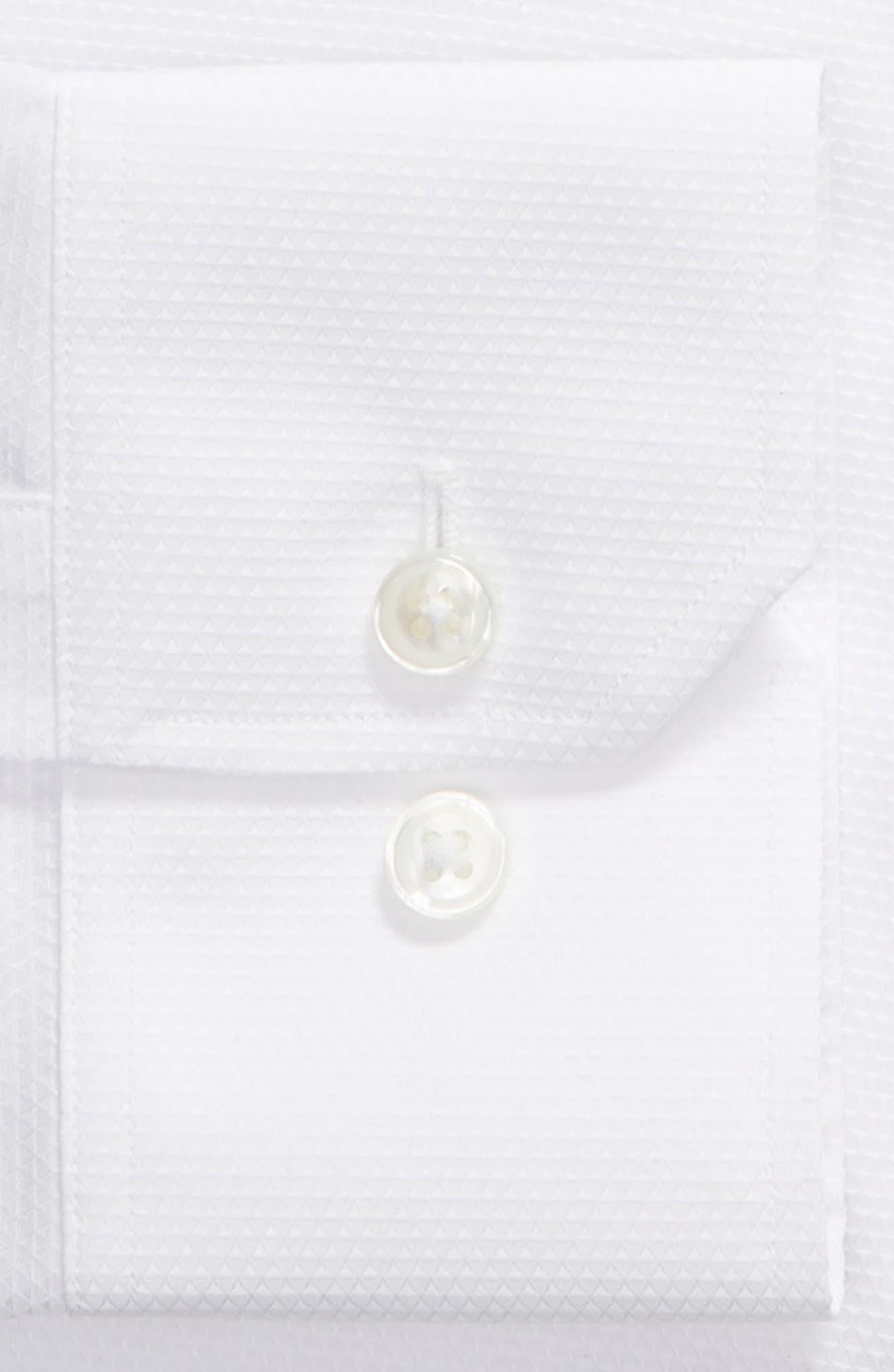 Slim Fit Solid Dress Shirt,                             Alternate thumbnail 6, color,                             WHITE