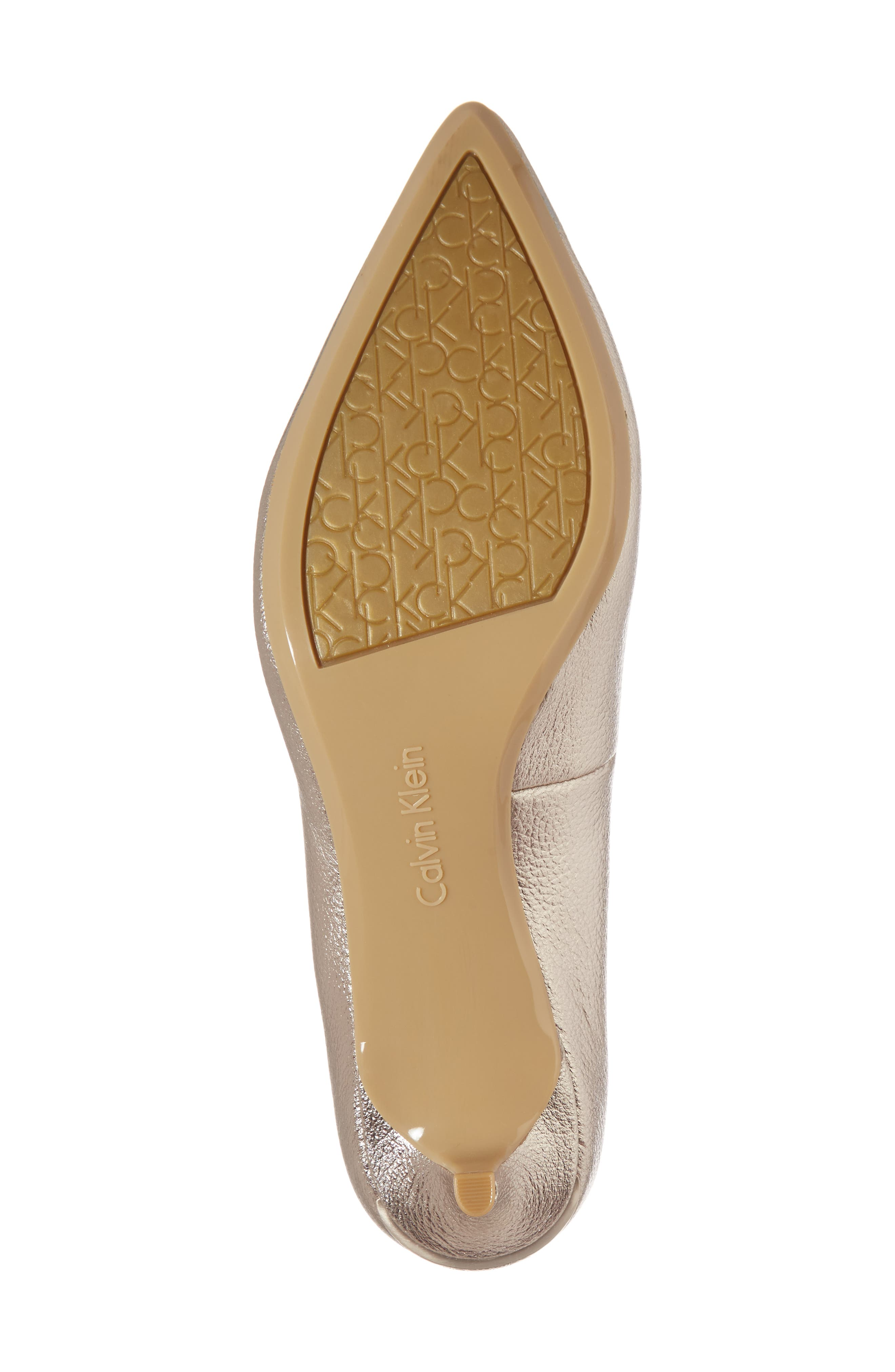Gabrianna Pump,                             Alternate thumbnail 6, color,                             SOFT PLATINUM LEATHER