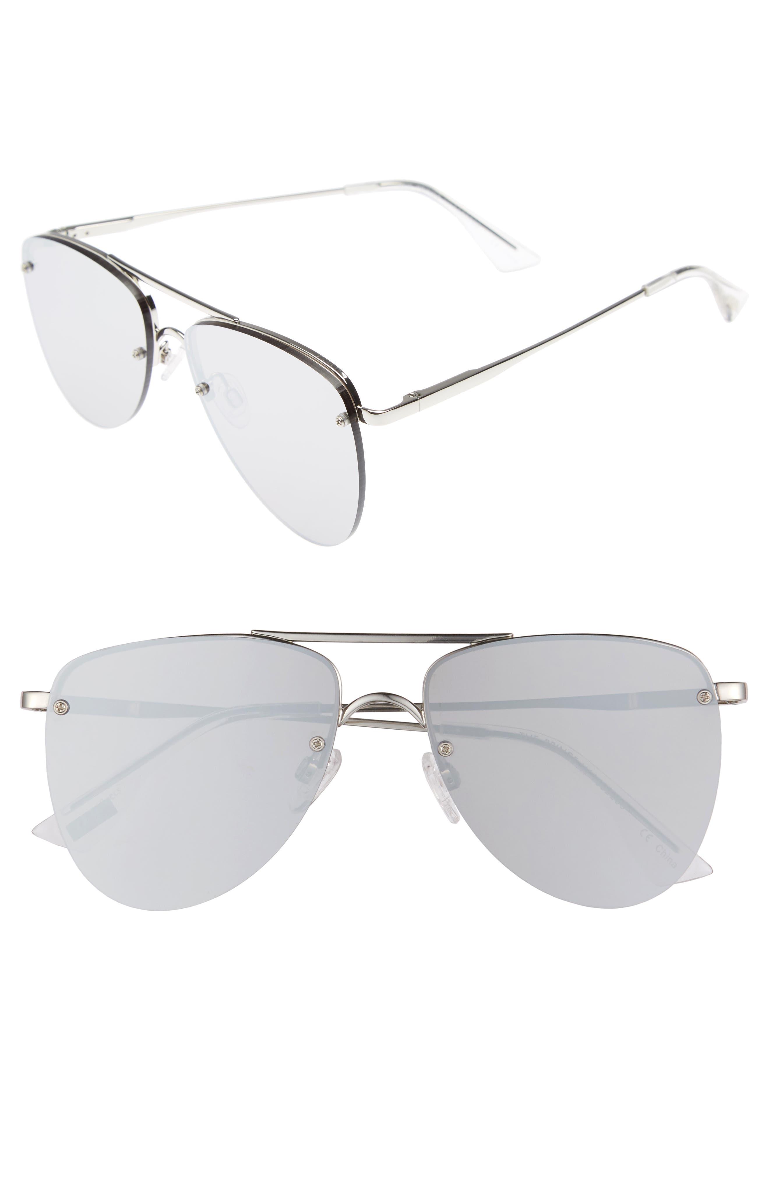 The Prince 57mm Aviator Sunglasses,                             Main thumbnail 1, color,                             040