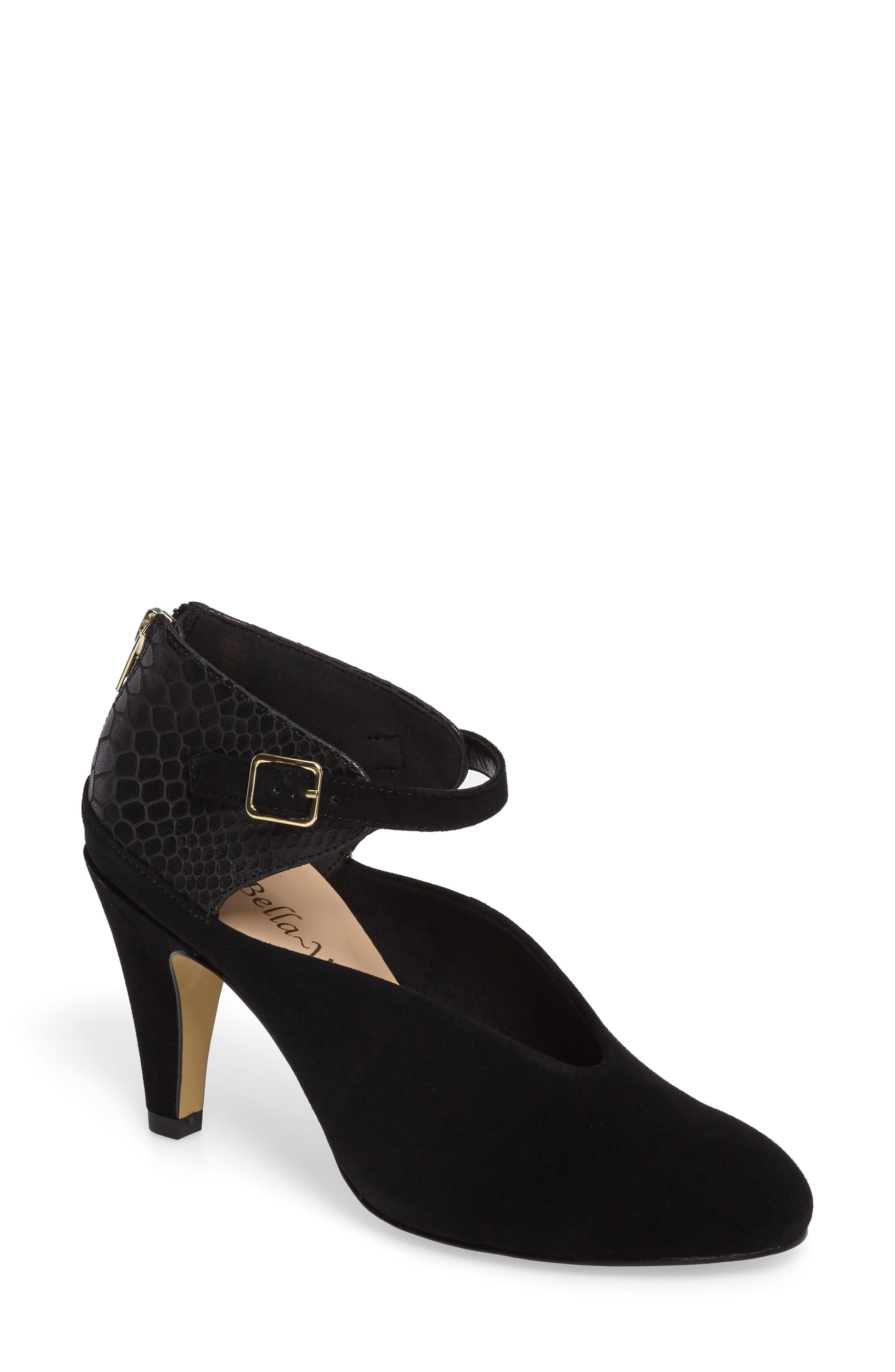 Neve Pump,                             Main thumbnail 1, color,                             BLACK SUEDE