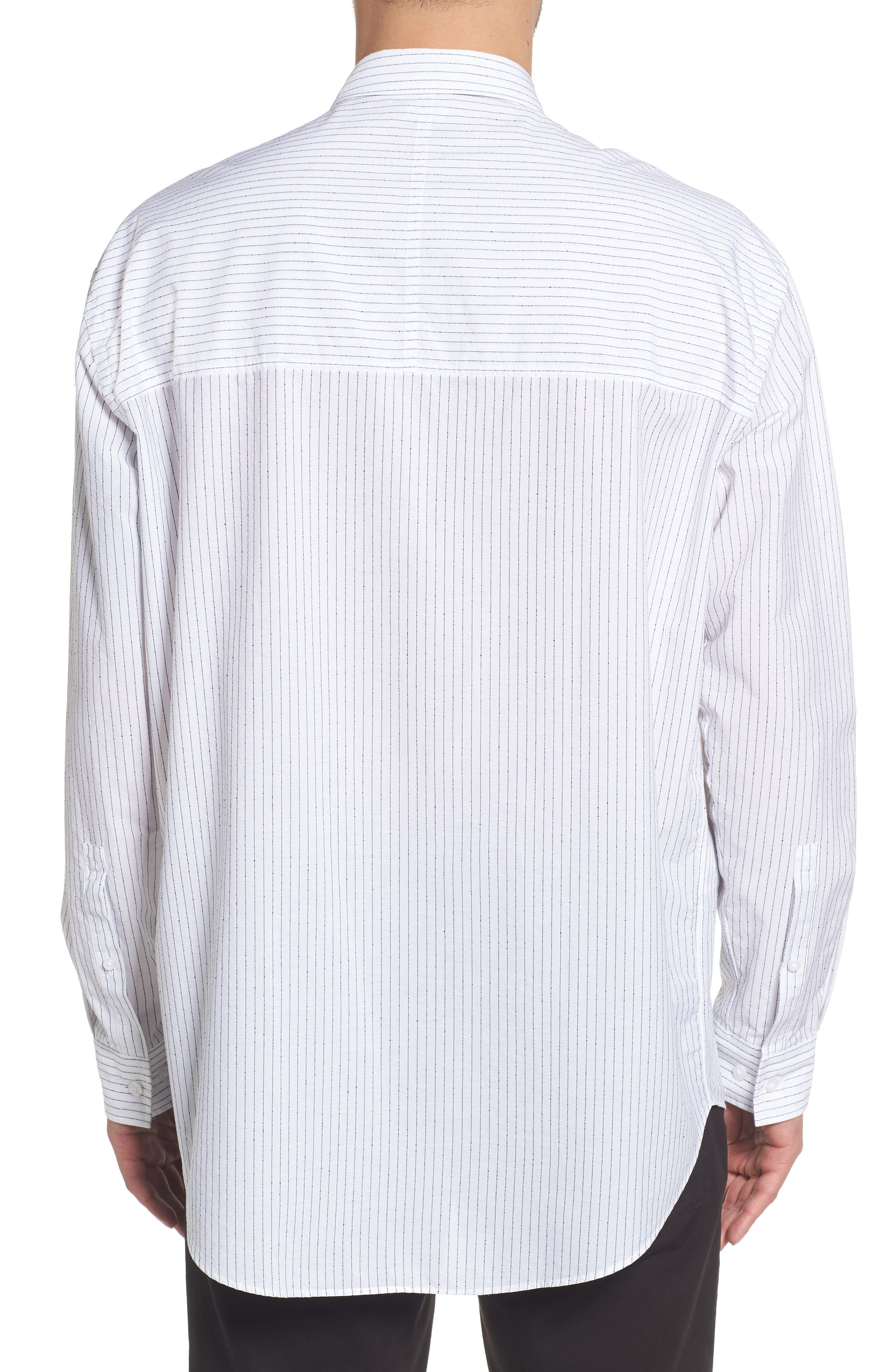 Ery Stripe Classic Fit Sport Shirt,                             Alternate thumbnail 2, color,                             WHITE