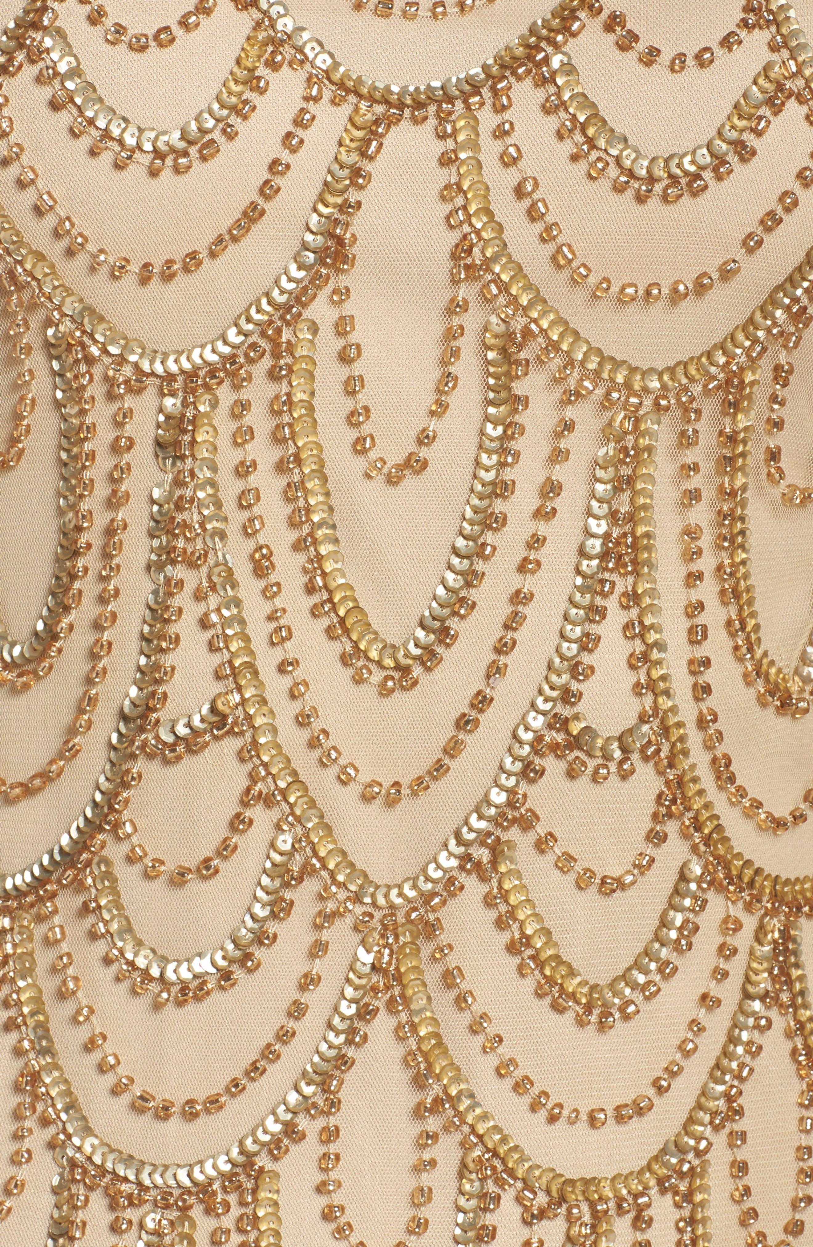 Embellished Mesh Sheath Dress,                             Alternate thumbnail 97, color,