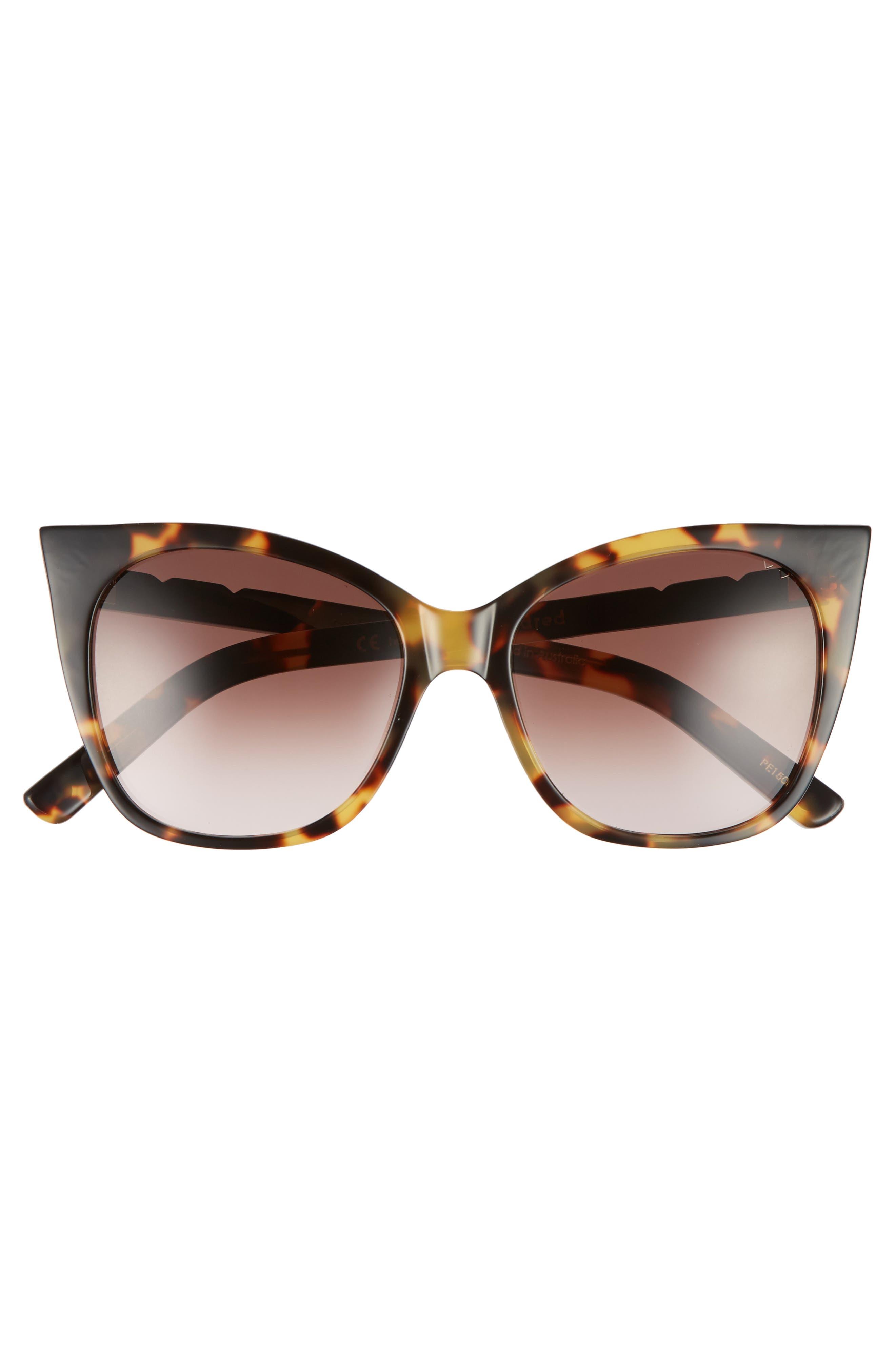 Cat & Mouse 51mm Cat Eye Sunglasses,                             Alternate thumbnail 3, color,                             DARK TORTOISE/ BLACK BROWN