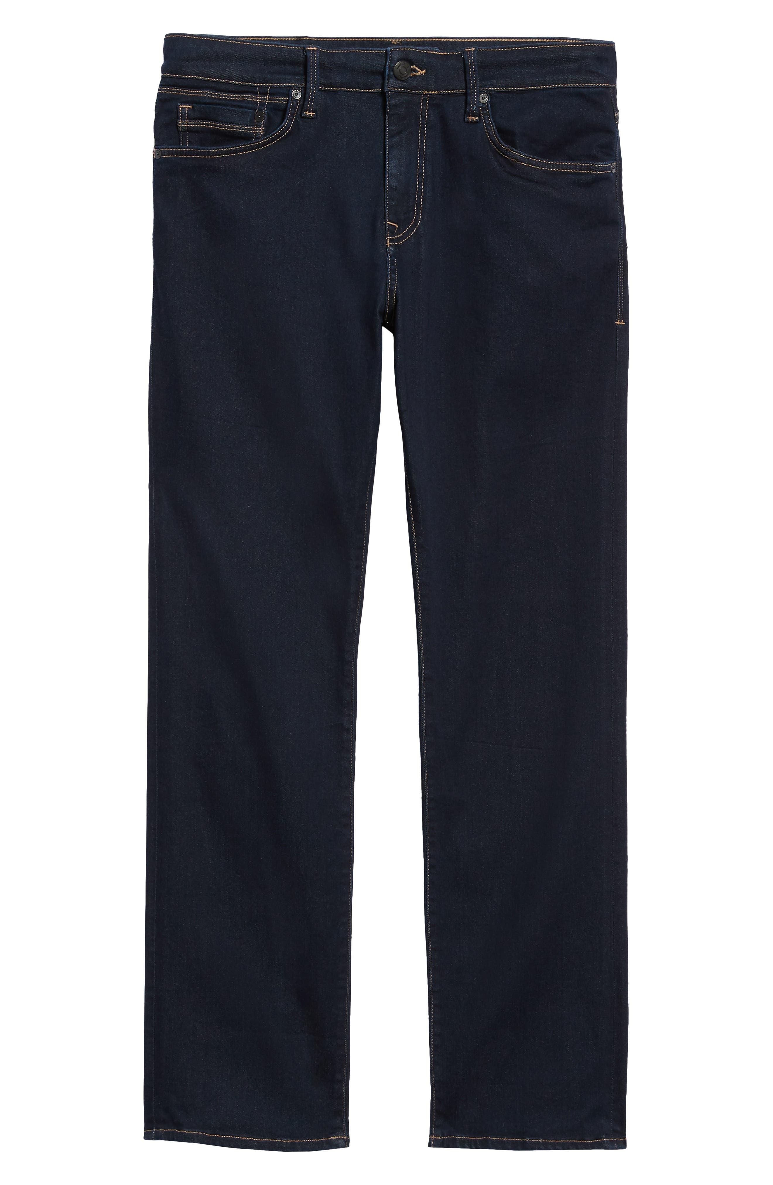 Matt Relaxed Fit Straight Leg Jeans,                             Alternate thumbnail 6, color,                             DEEP RINSE SOFT MOVE