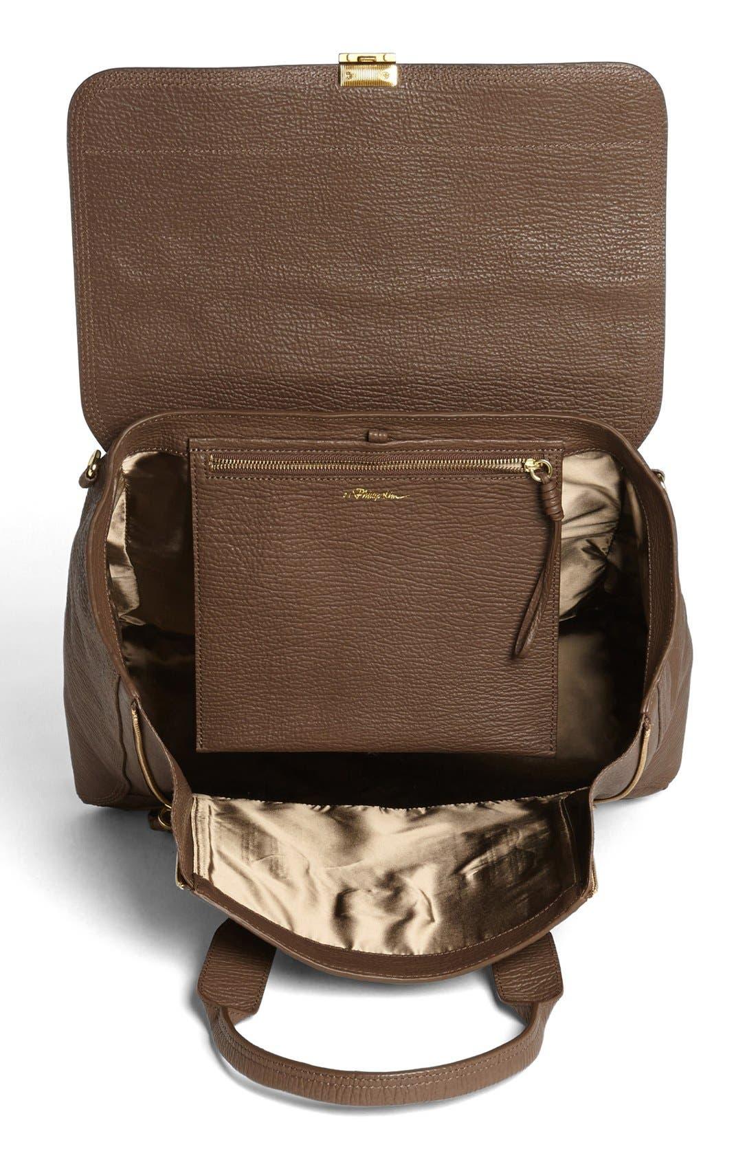 'Large Pashli' Leather Satchel,                             Alternate thumbnail 8, color,