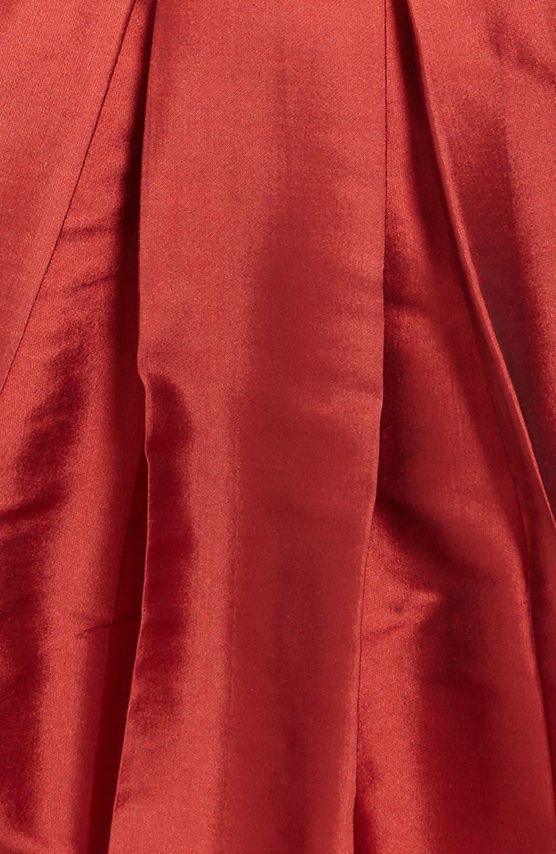 Cap Sleeve Taffeta Dress,                             Alternate thumbnail 3, color,                             600