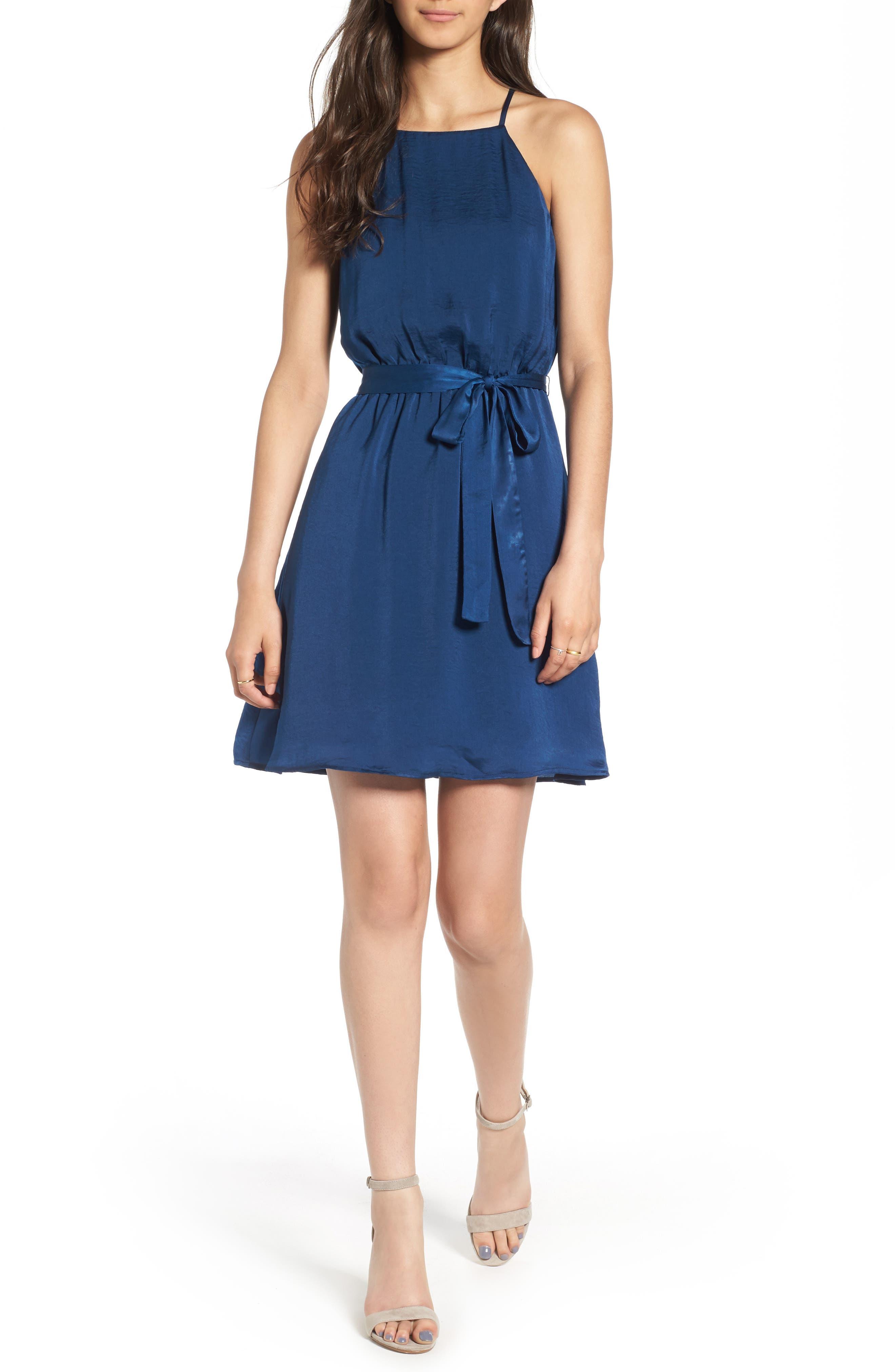 As You Wish Tie Waist Dress,                             Main thumbnail 1, color,                             400
