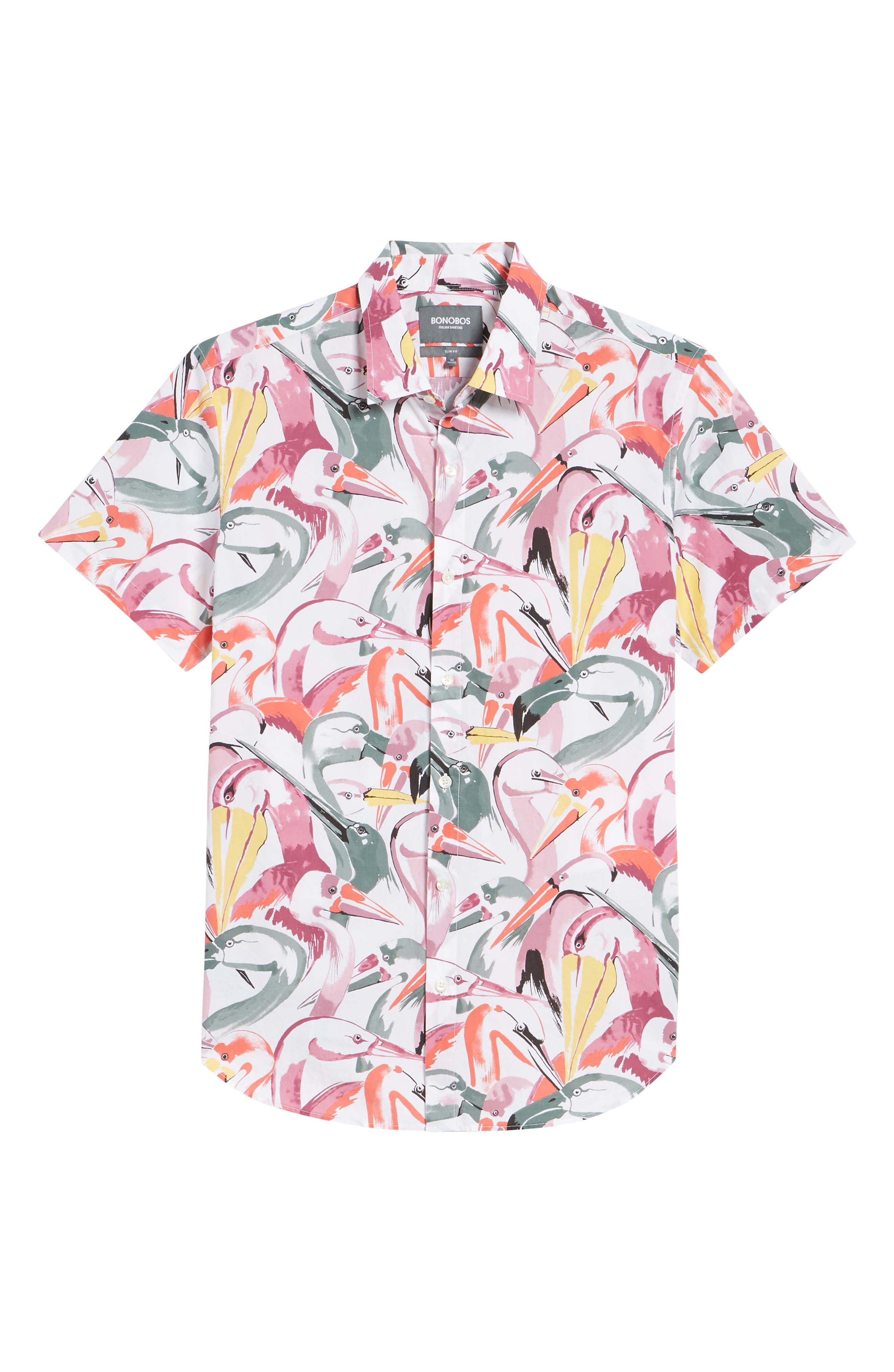 Premium Slim Fit Print Short Sleeve Sport Shirt,                             Alternate thumbnail 6, color,                             100
