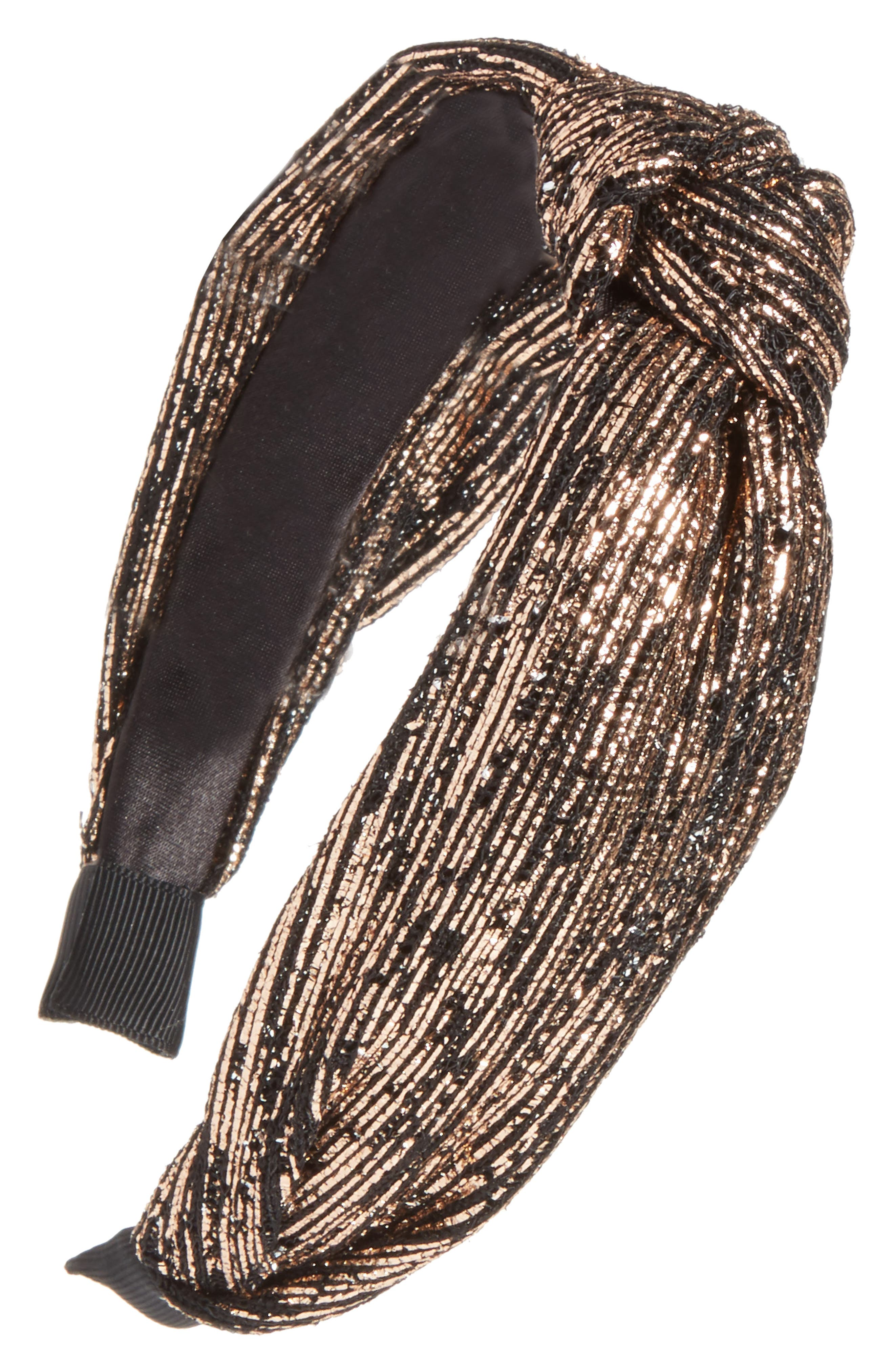 Golden Knotted Headband,                             Main thumbnail 1, color,