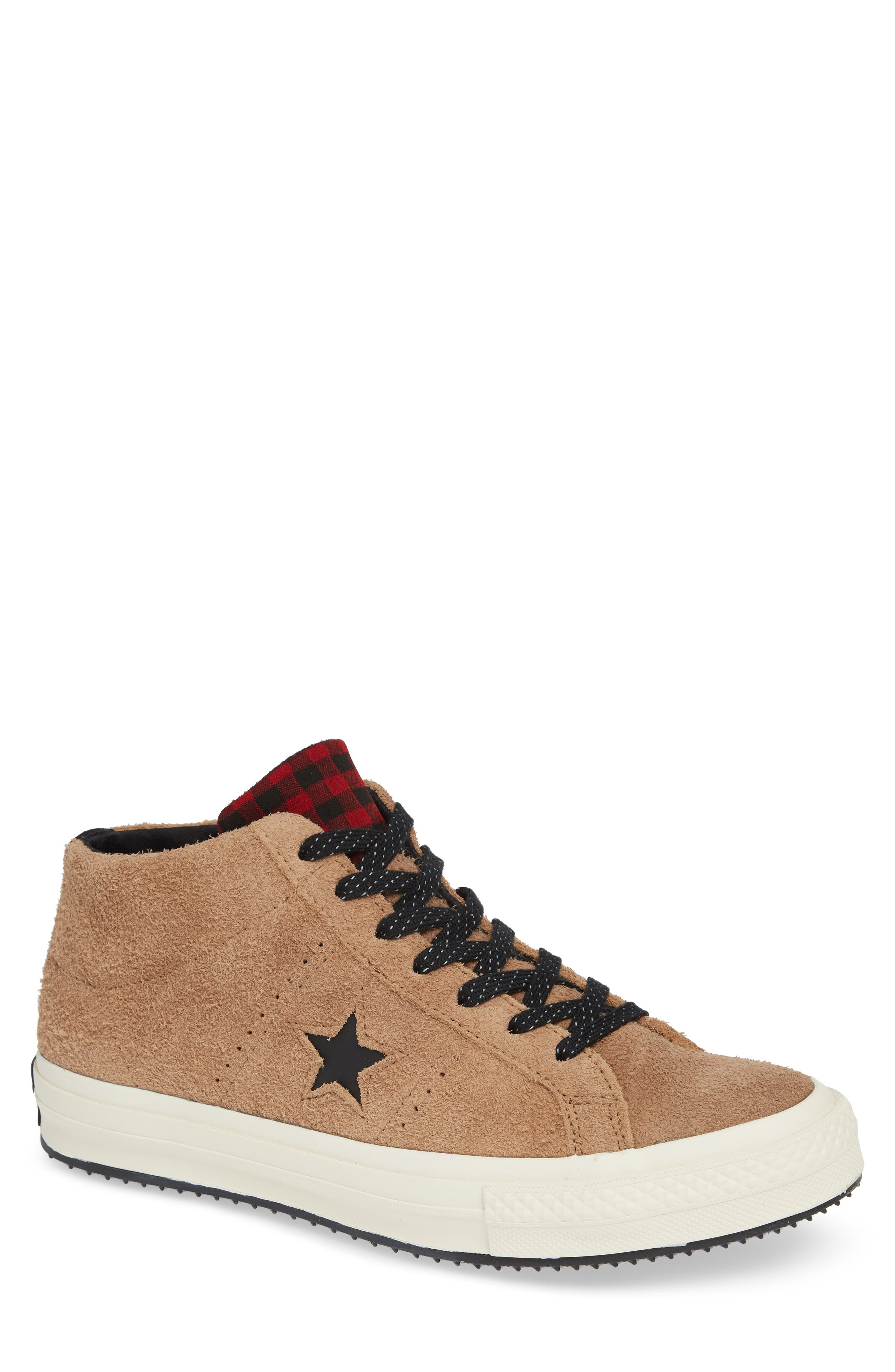 One Star Climate Counter Mid Top Sneaker,                             Main thumbnail 1, color,                             FIELD SURPLUS SUEDE