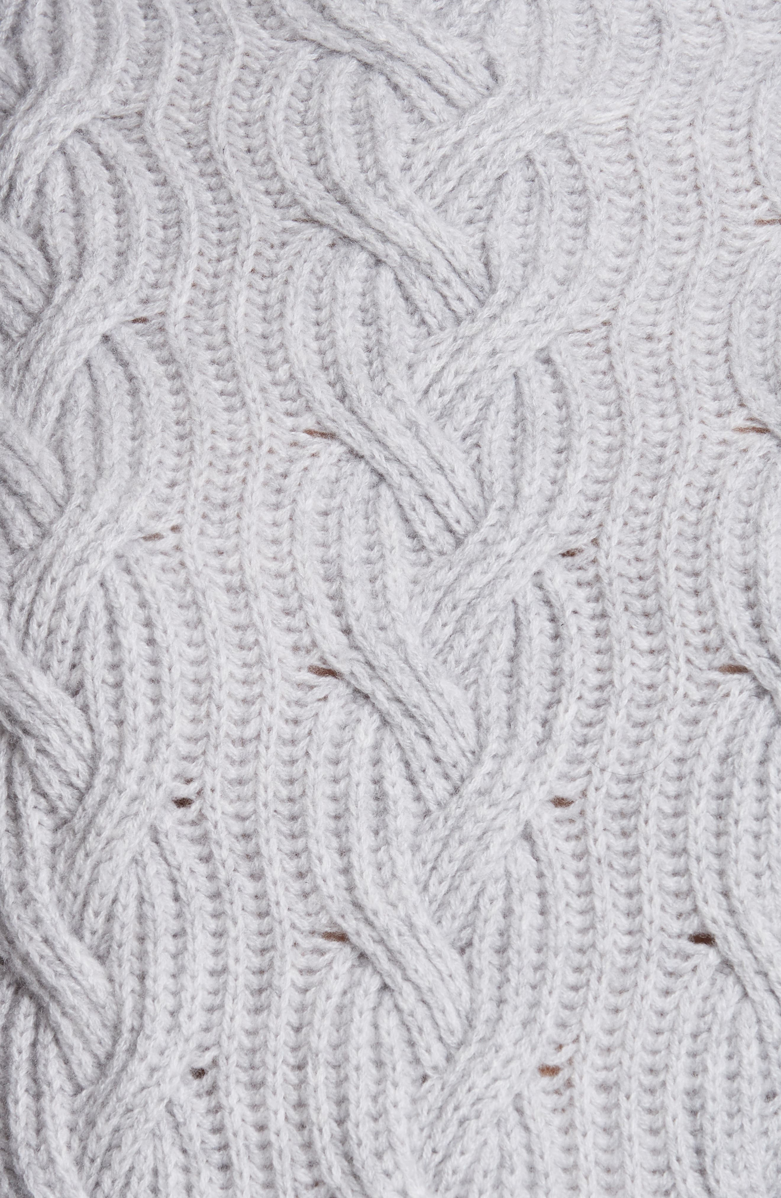 Cable Cashmere Knit Sweater,                             Alternate thumbnail 5, color,                             050