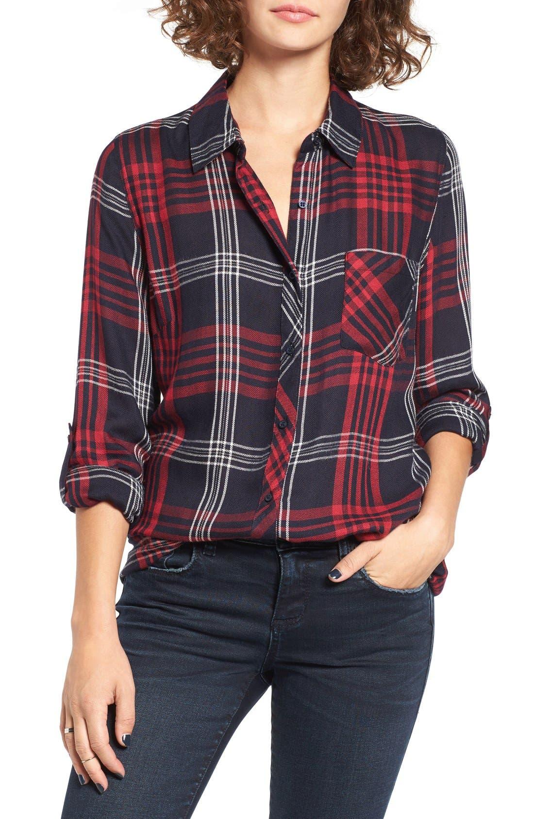 THREAD & SUPPLY,                             Lucia Plaid Shirt,                             Main thumbnail 1, color,                             011