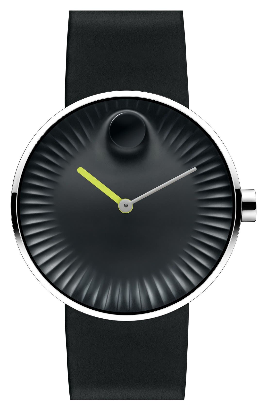 'Edge' Rubber Strap Watch, 40mm,                             Main thumbnail 1, color,                             001
