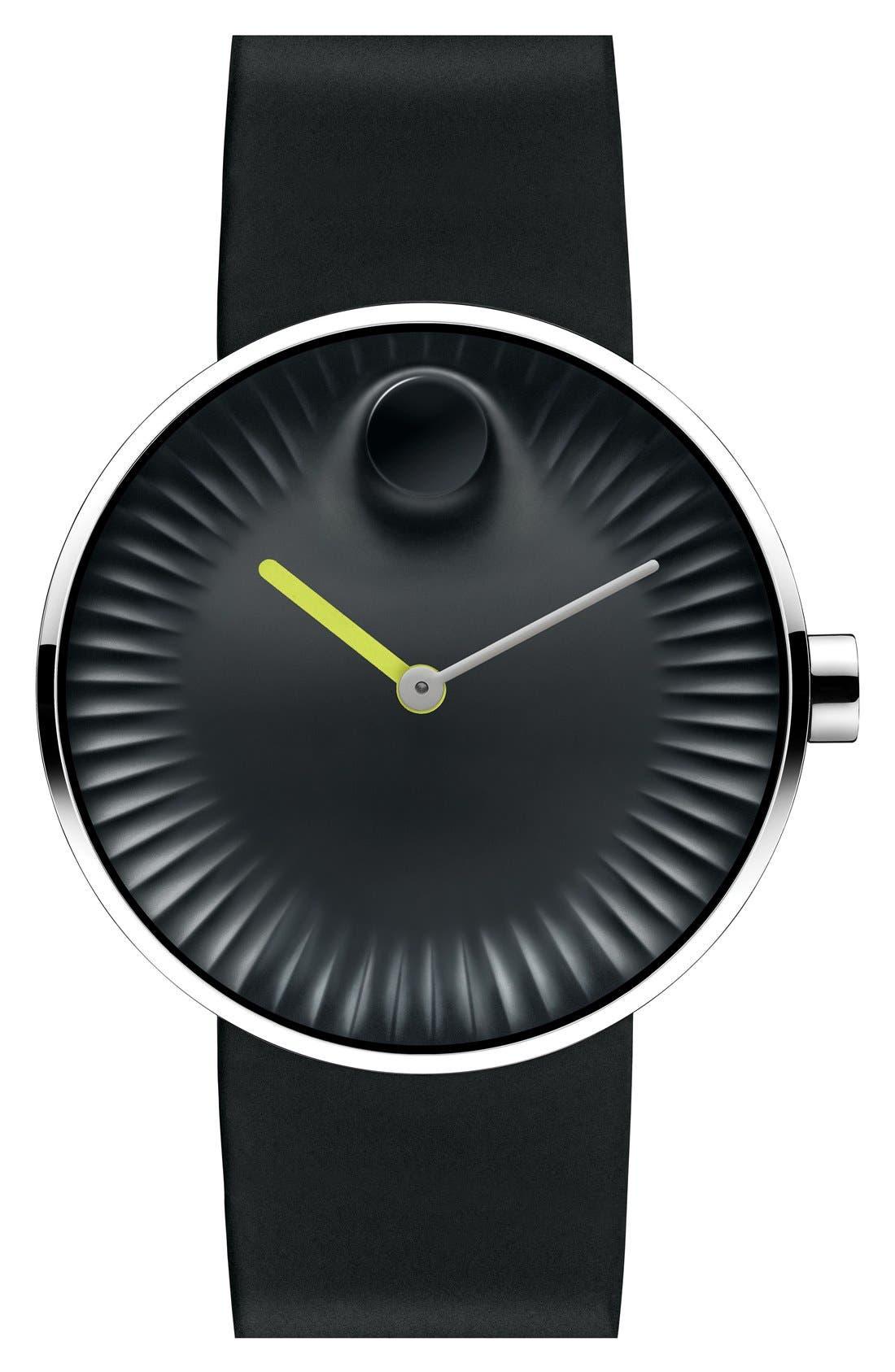 'Edge' Rubber Strap Watch, 40mm,                         Main,                         color, 001