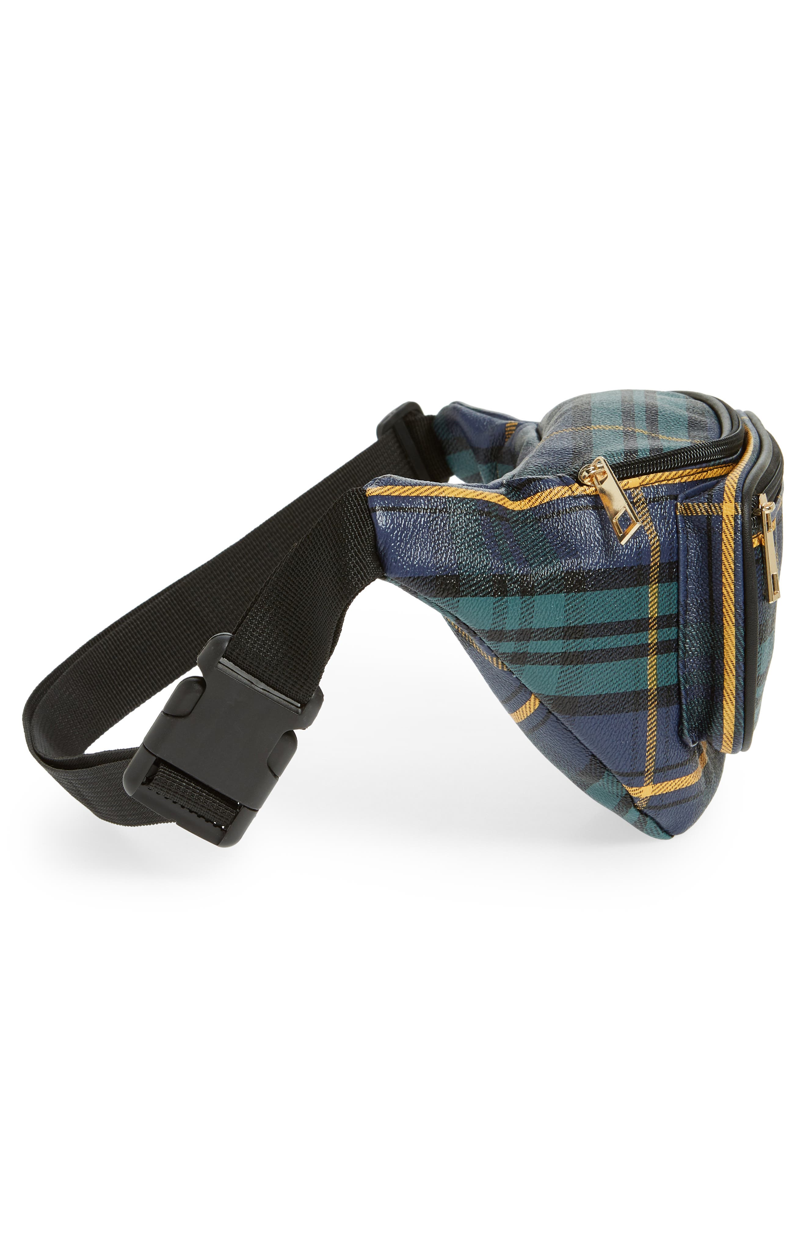 Jane & Berry Plaid Belt Bag,                             Alternate thumbnail 6, color,                             300