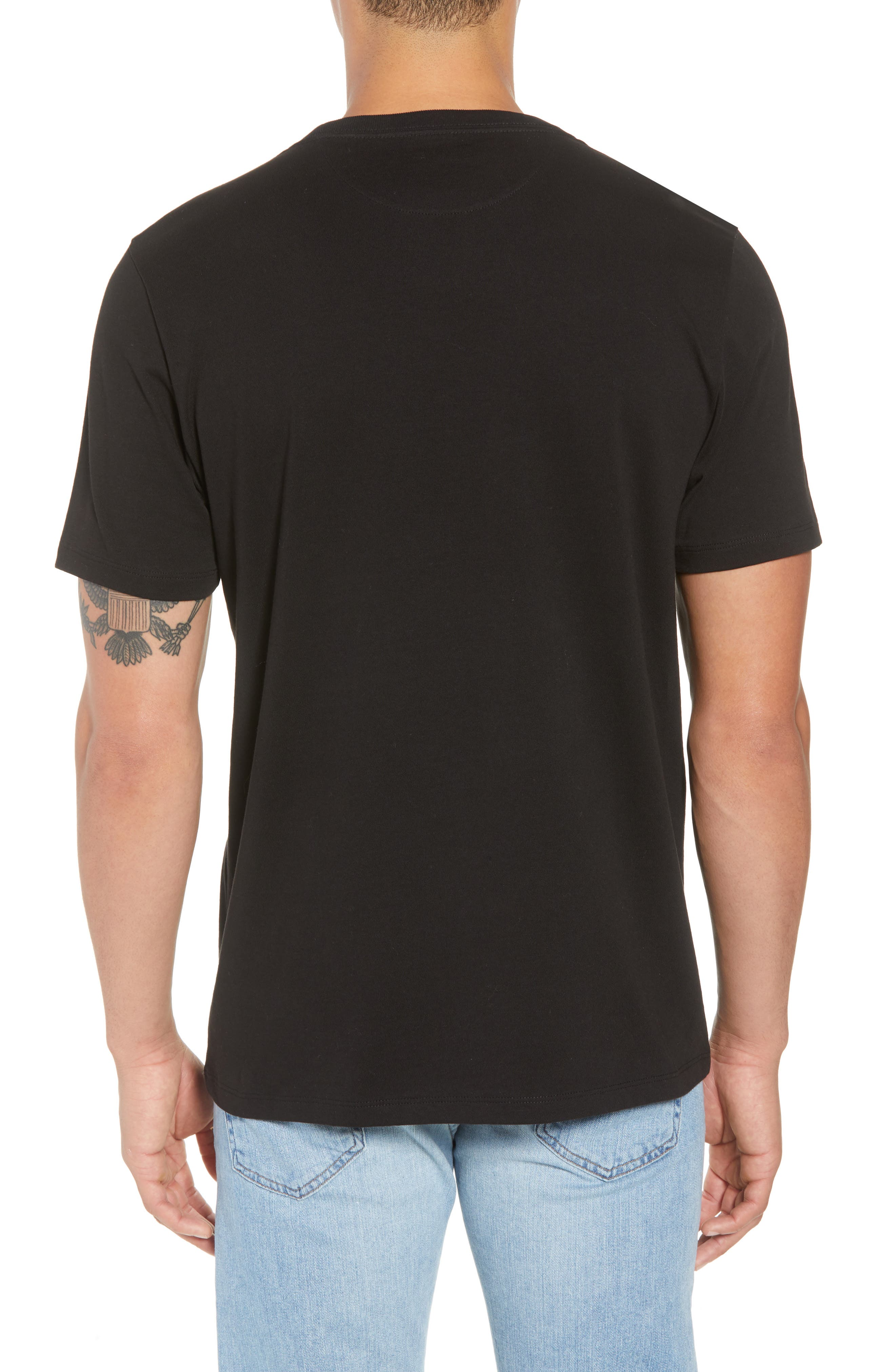 Classic Fit Cotton T-Shirt,                             Alternate thumbnail 2, color,                             NOIR