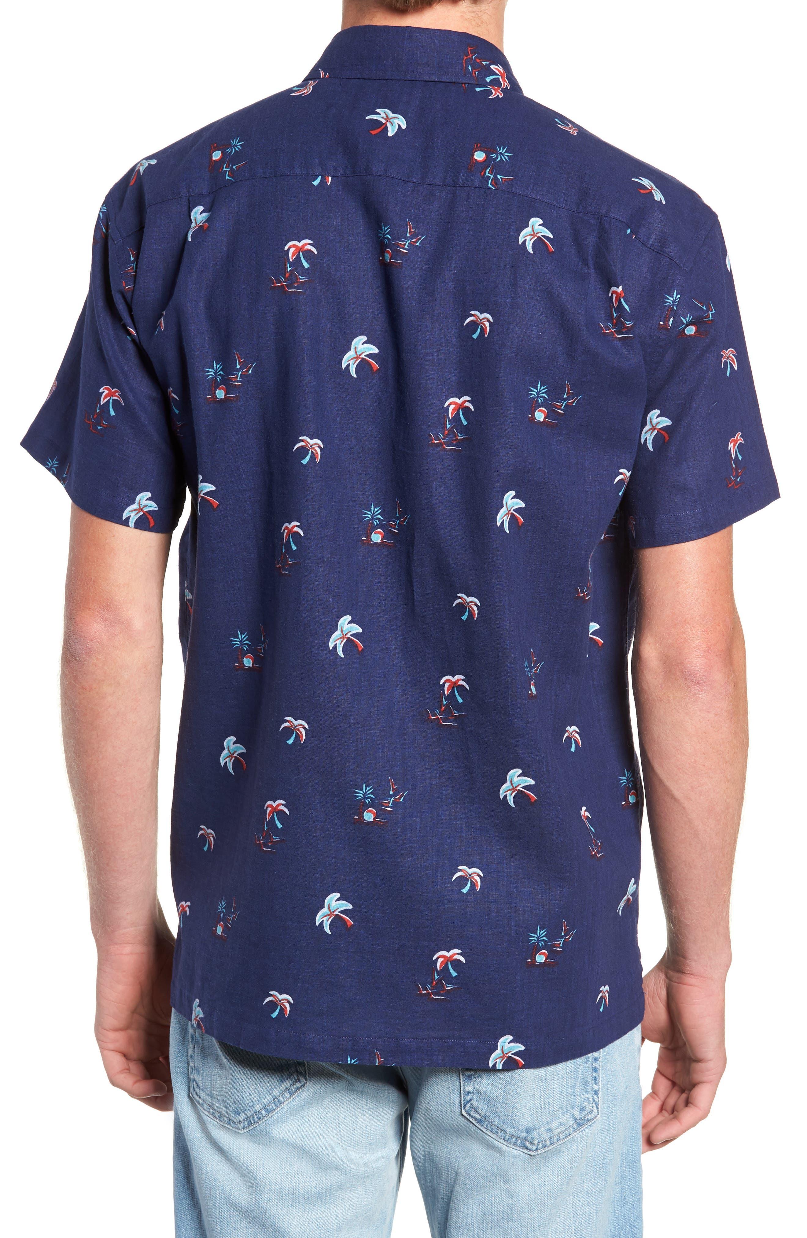 Setting Sun Classic Fit Sport Shirt,                             Alternate thumbnail 3, color,                             NAVY