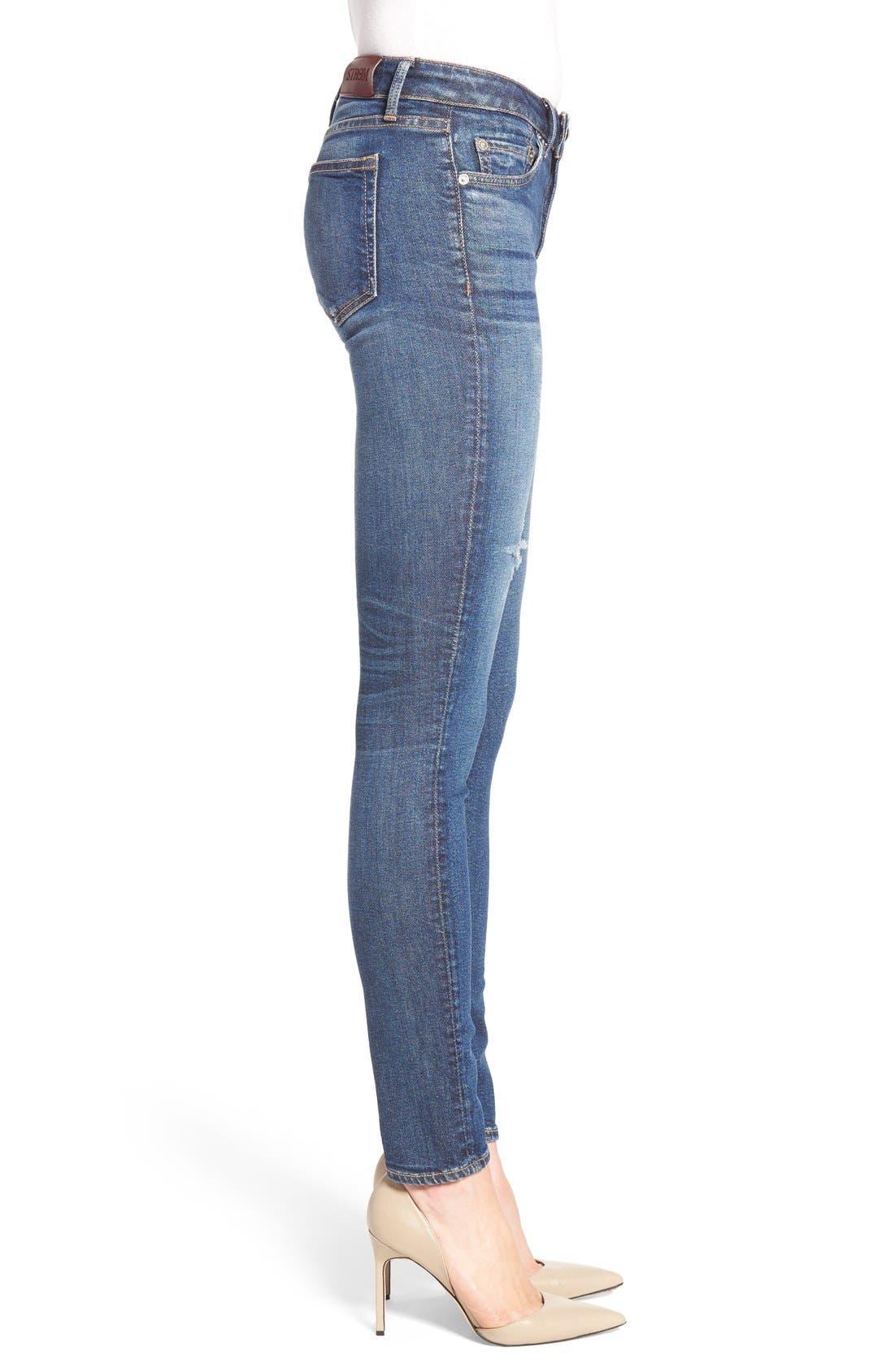STROM,                             'Tio' Ankle Skinny Jeans,                             Alternate thumbnail 3, color,                             420