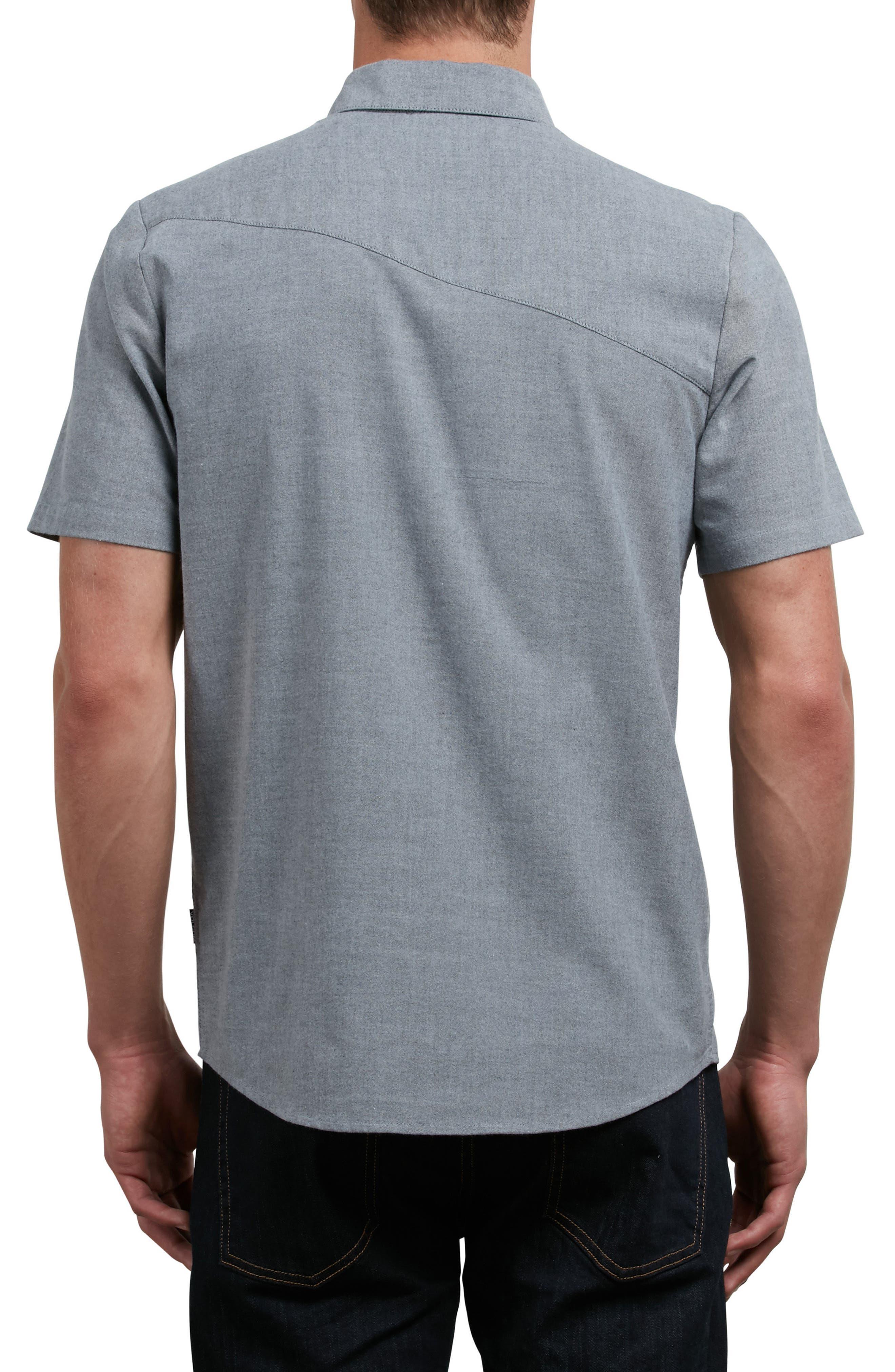 Everett Oxford Shirt,                             Alternate thumbnail 2, color,                             001