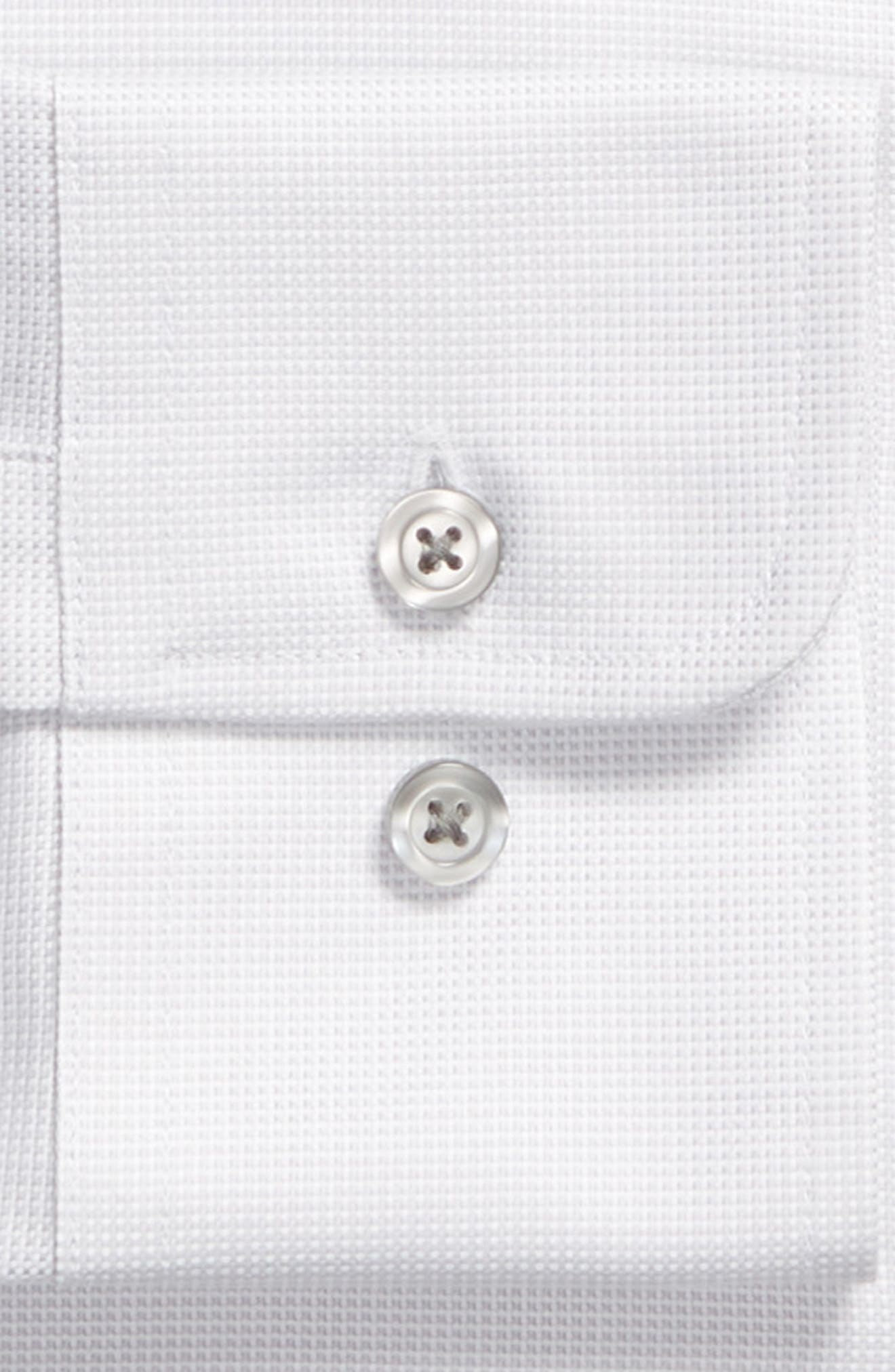 Slim Fit Solid Dress Shirt,                             Alternate thumbnail 6, color,                             GREY DOBBY