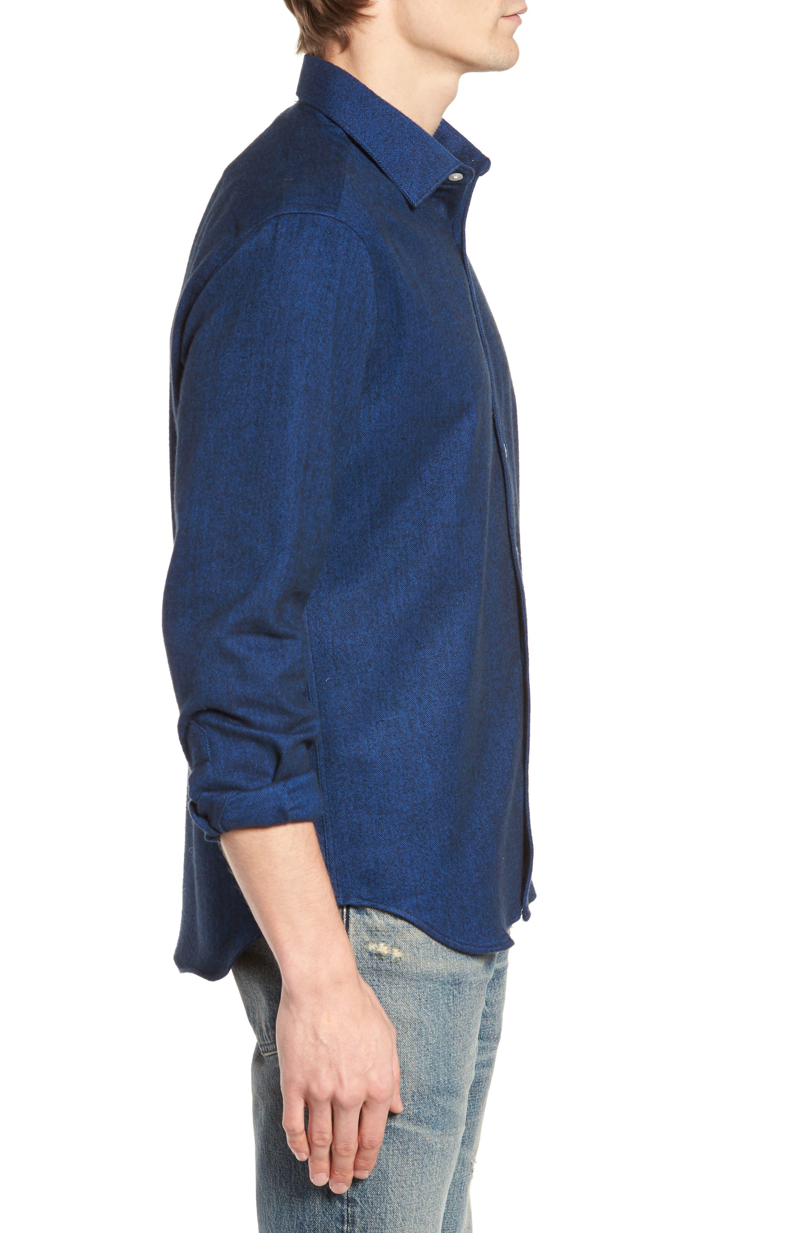 Grafton Slim Fit Herringbone Sport Shirt,                             Alternate thumbnail 3, color,                             410