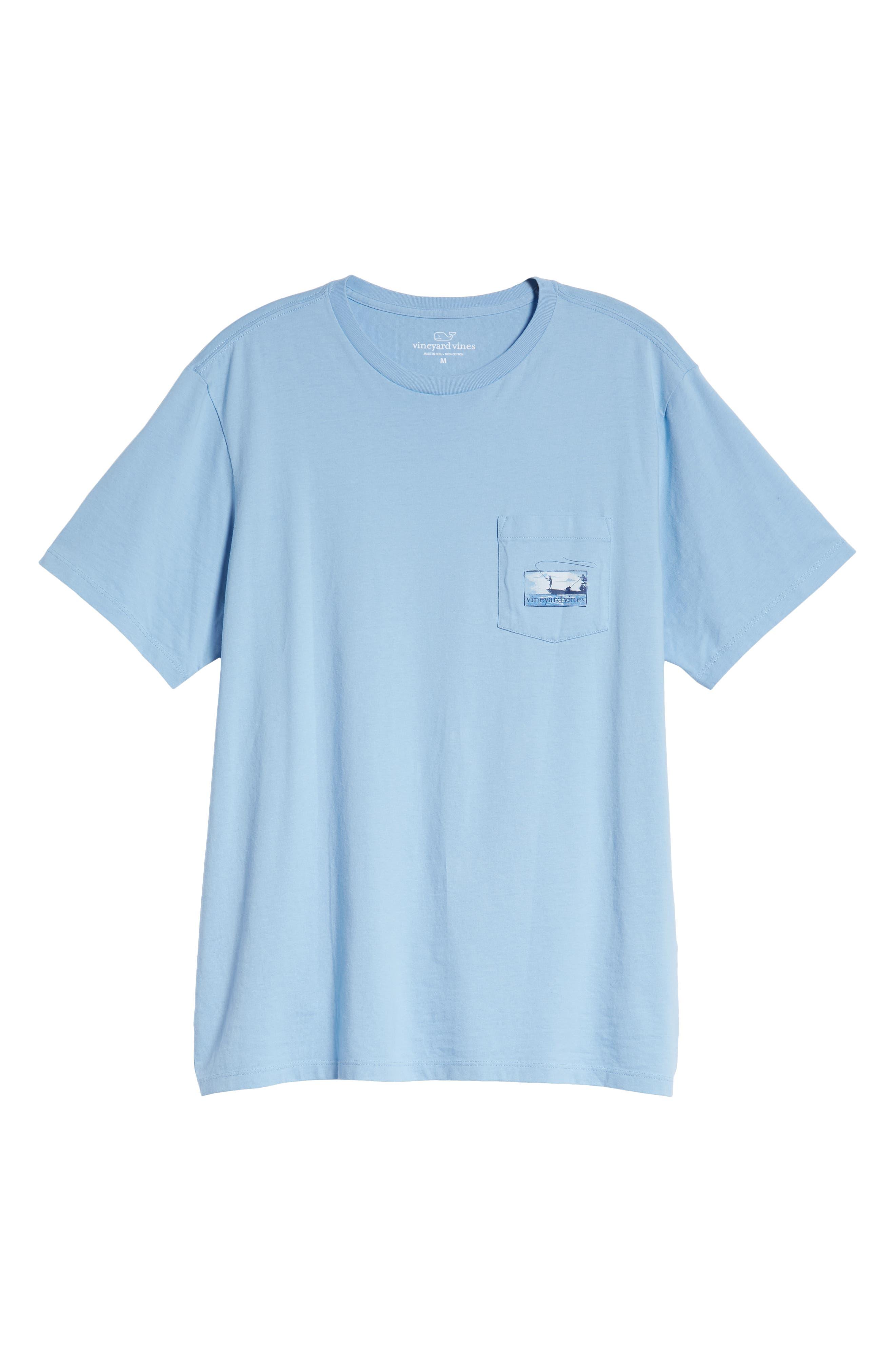 Flats Fishing Pocket T-Shirt,                             Alternate thumbnail 6, color,                             456