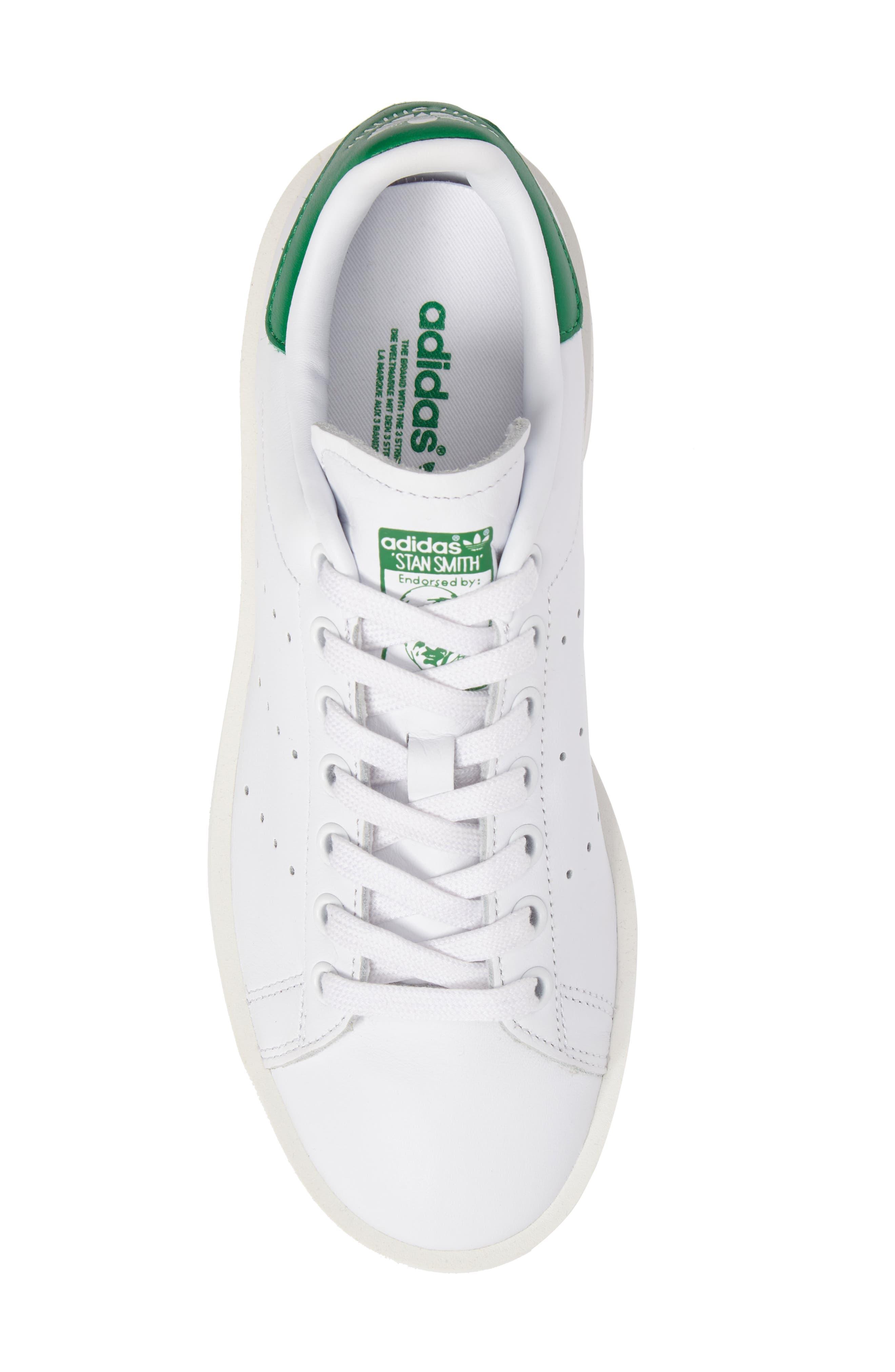 Stan Smith Bold Platform Sneaker,                             Alternate thumbnail 5, color,                             100