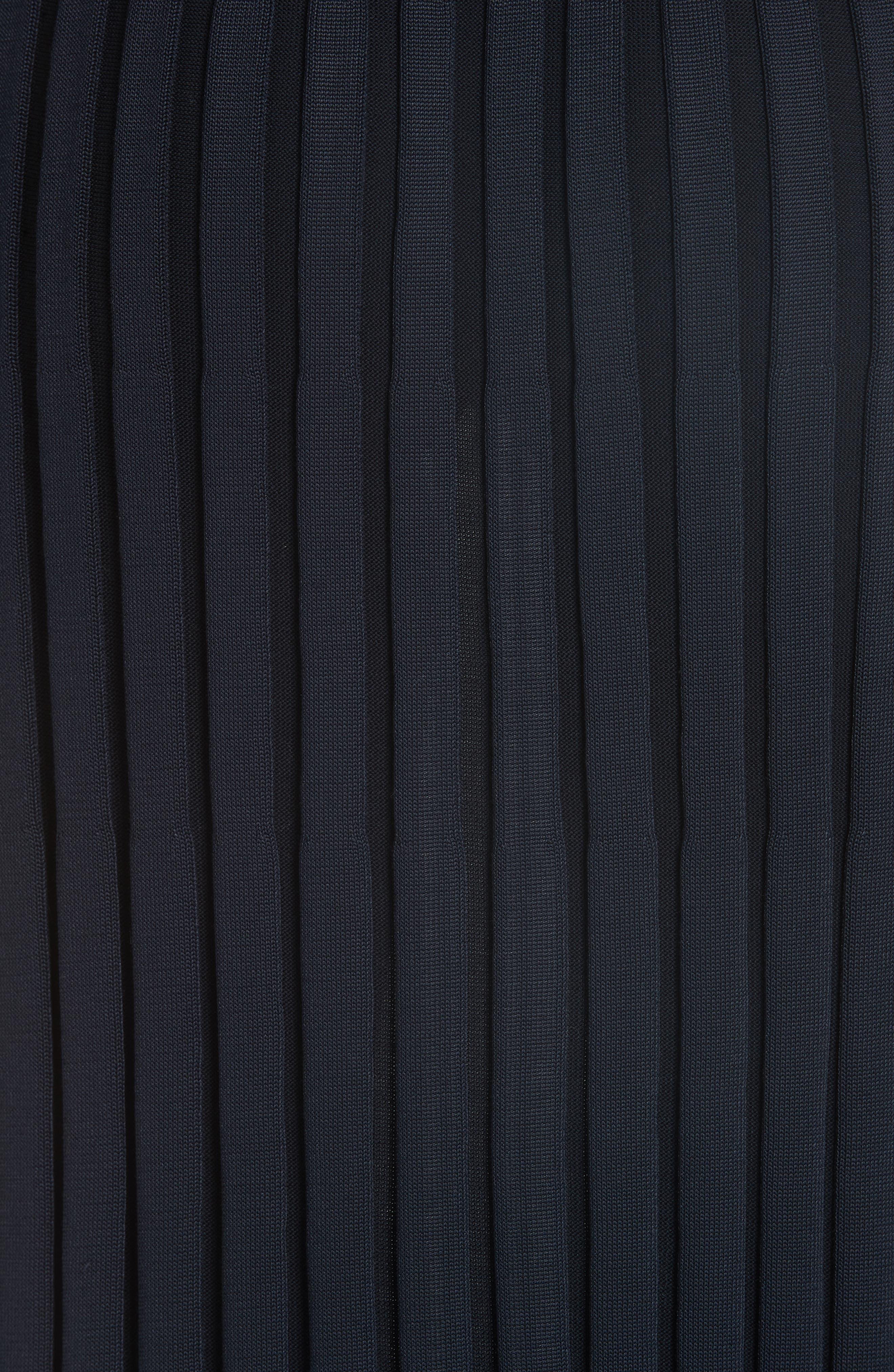 Metropolitan Shine Plaited Rib Skirt,                             Alternate thumbnail 5, color,                             400