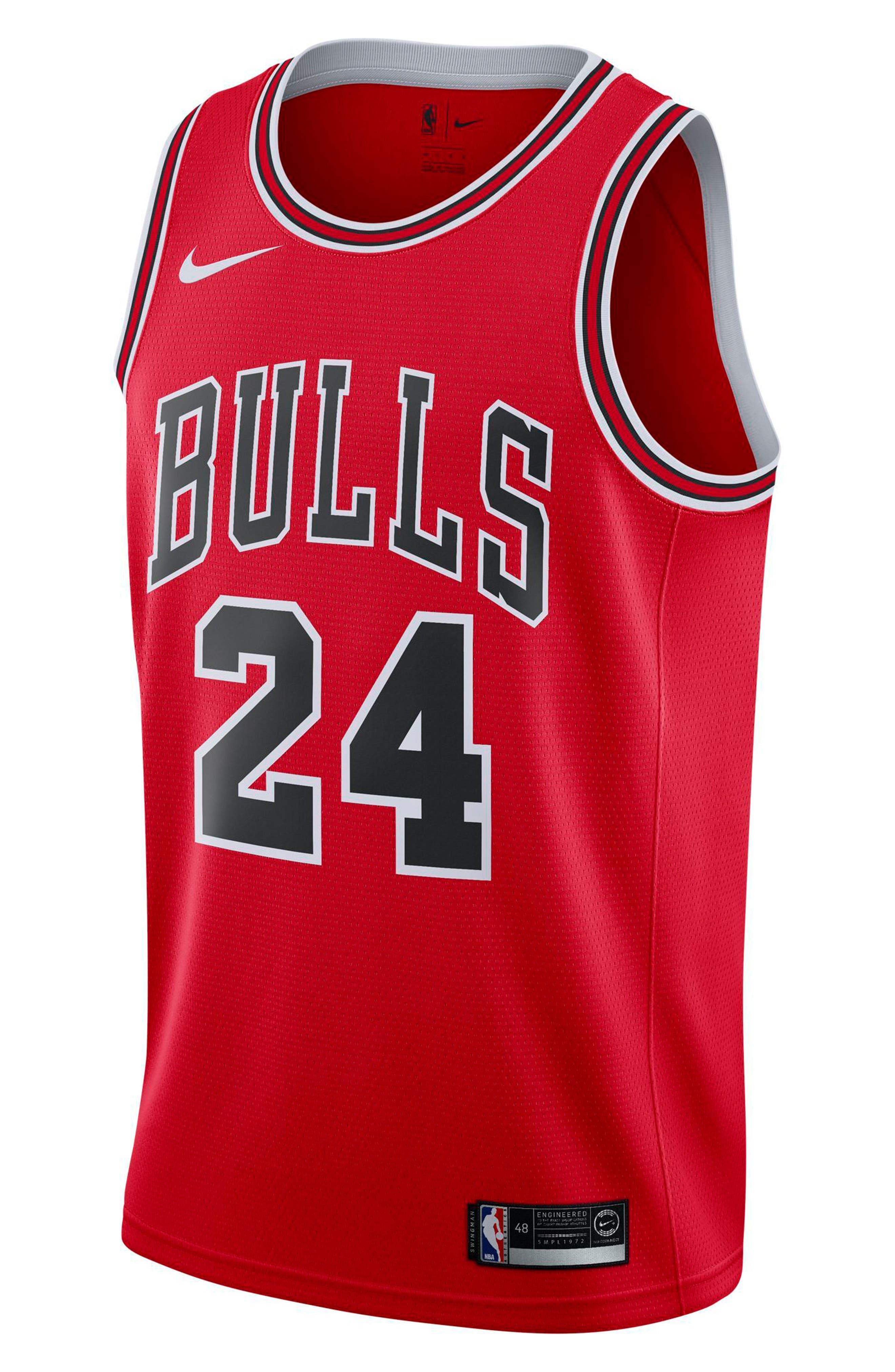 Chicago Bulls Icon Edition Swingman NBA Jersey,                             Main thumbnail 3, color,