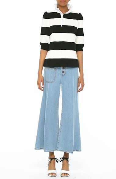 High Waist Crop Flare Jeans, video thumbnail