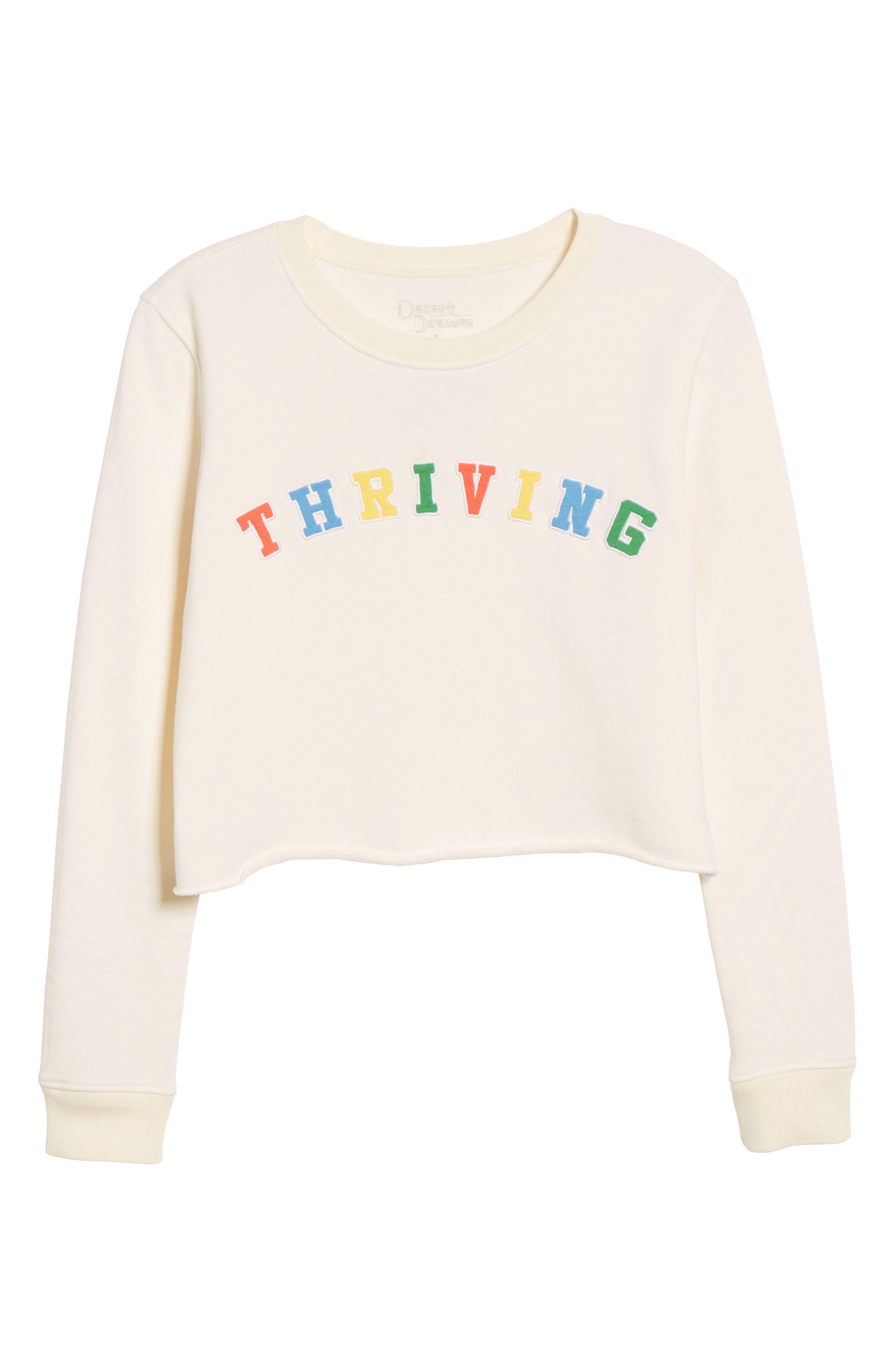 Thriving Crop Sweatshirt,                             Alternate thumbnail 7, color,                             900