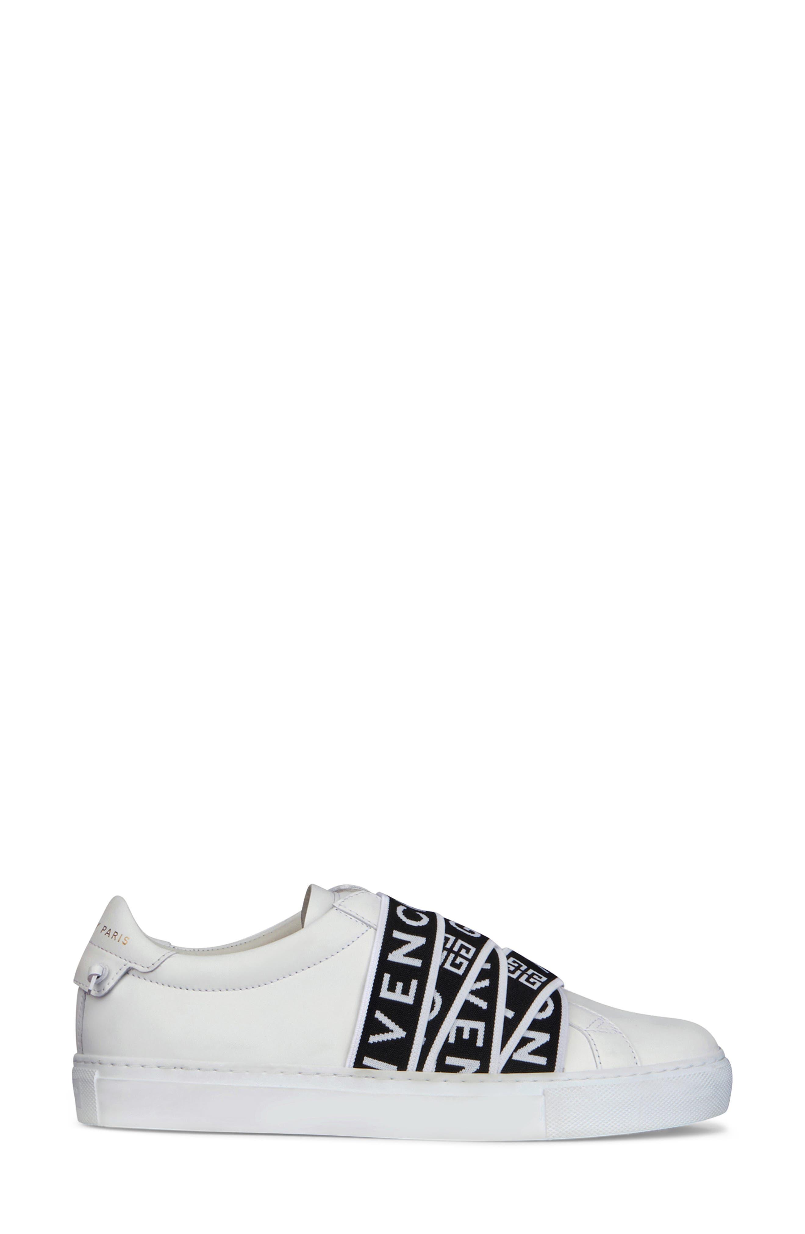 GIVENCHY,                             Urban Street Logo Strap Sneaker,                             Alternate thumbnail 2, color,                             WHITE/ BLACK