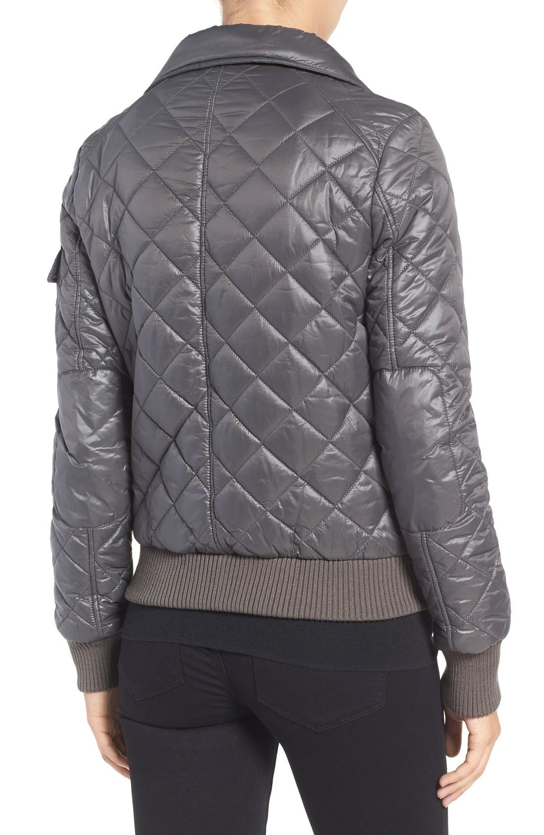 Quilted Bomber Jacket,                             Alternate thumbnail 18, color,