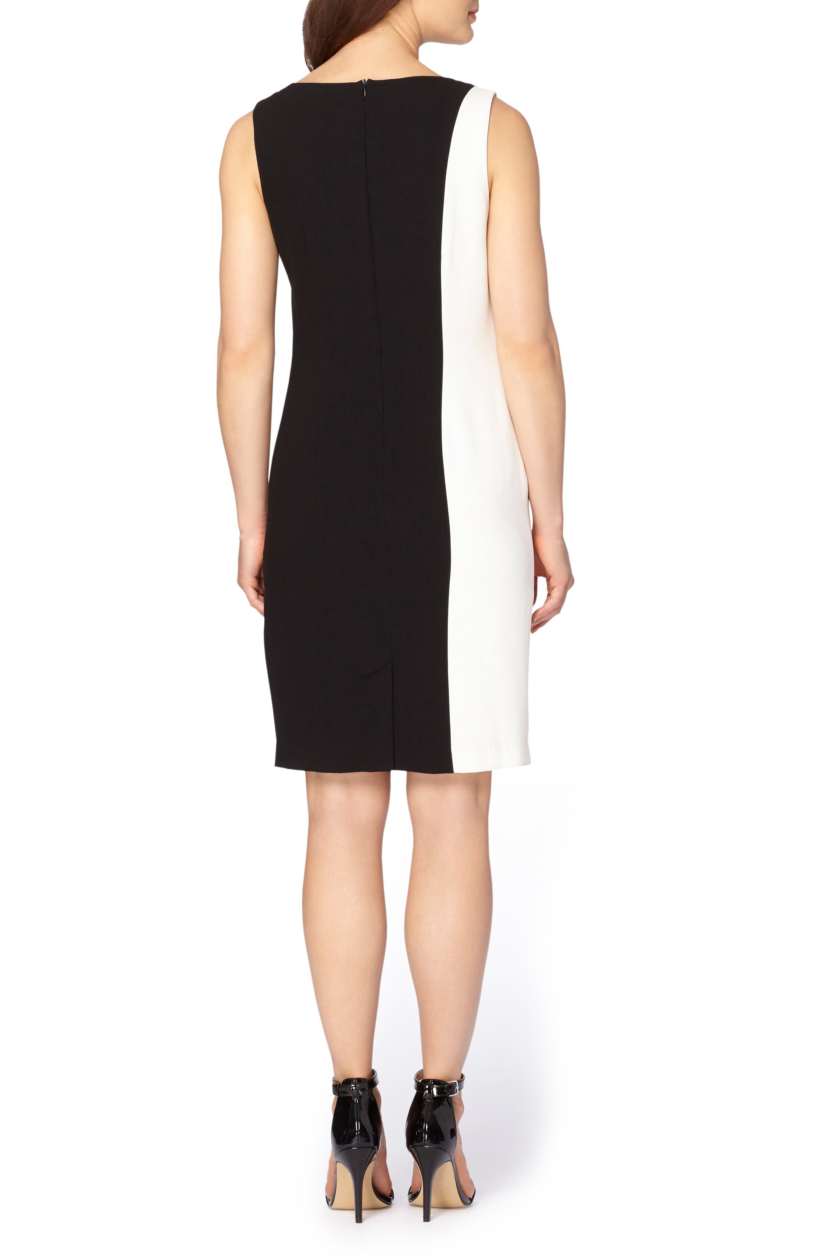 Embellished Sheath Dress,                             Alternate thumbnail 3, color,                             003