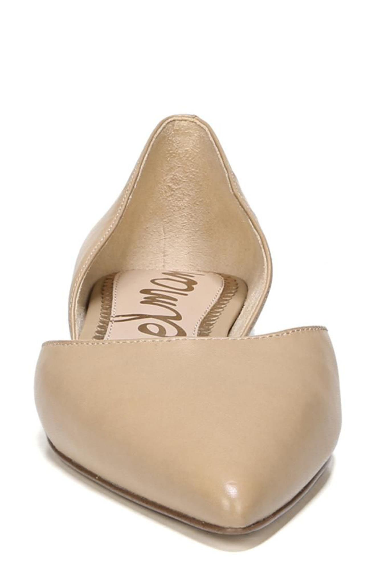 Rodney Pointy Toe d'Orsay Flat,                             Alternate thumbnail 4, color,                             CLASSIC NUDE LEATHER