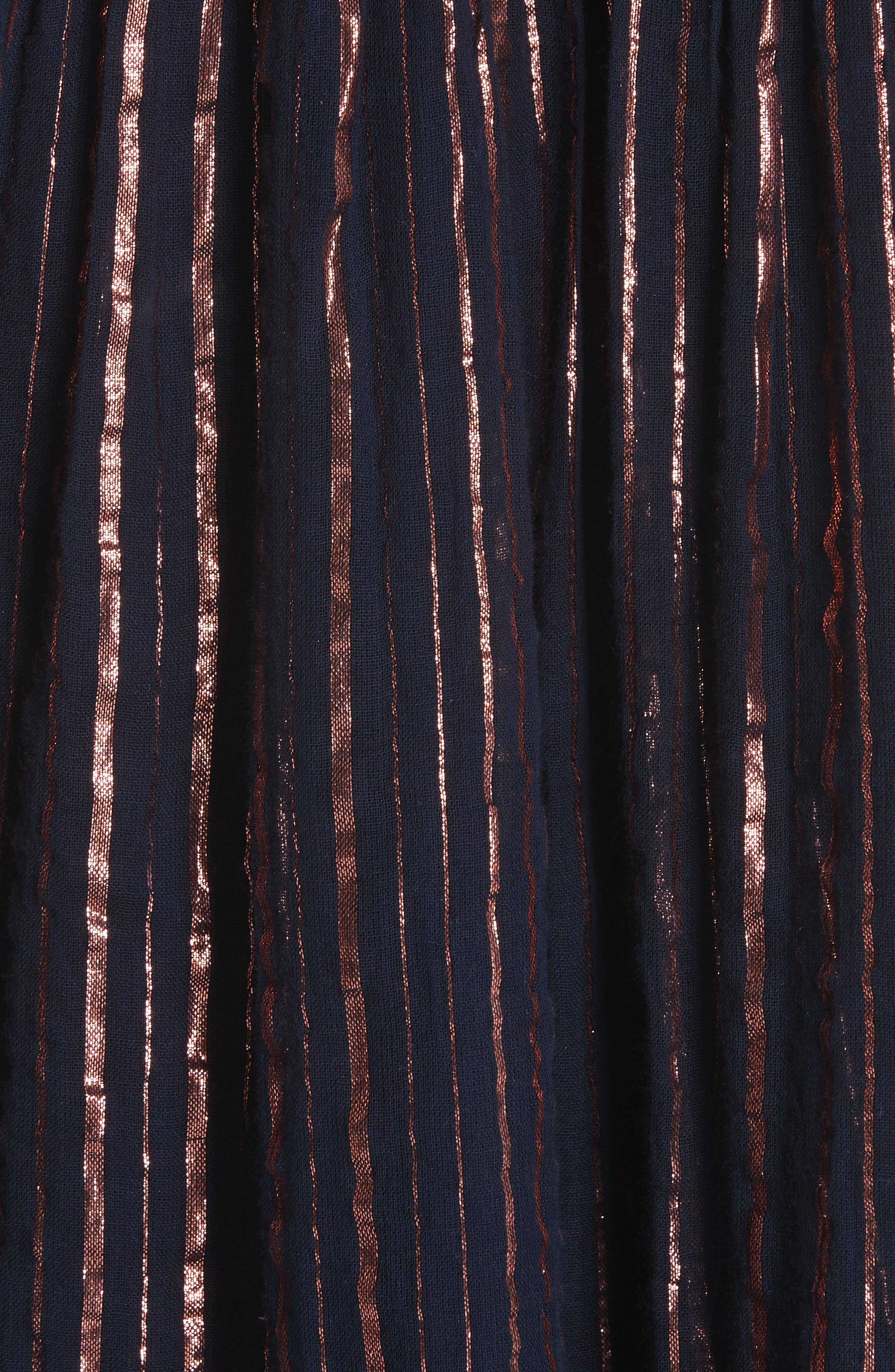 ULLA JOHNSON,                             Liliana Metallic Stripe Dress,                             Alternate thumbnail 5, color,                             400