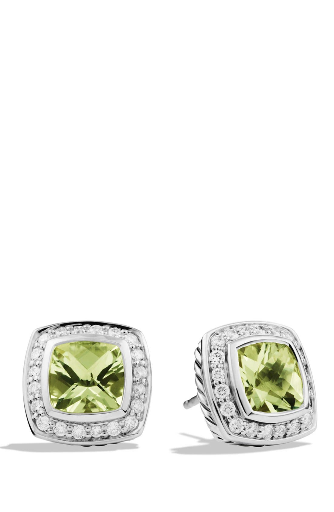 'Albion' Petite Earrings with Semiprecious Stones & Diamonds,                         Main,                         color,